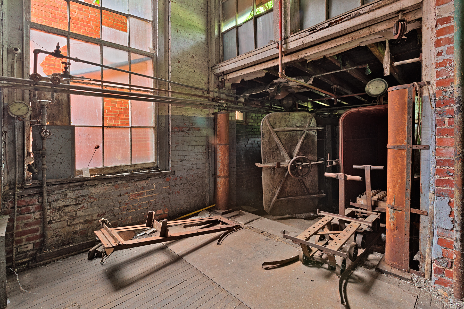 Abandoned lonaconing silk mill - hdr photo