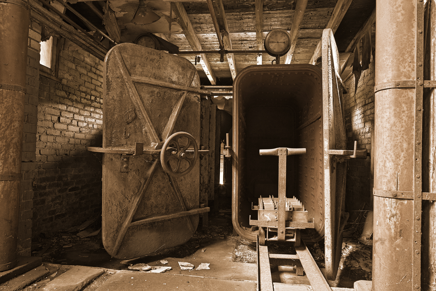 Abandoned Lonaconing Silk Mill - Sepia H, Abandoned, Old, Rusty, Rustic, HQ Photo