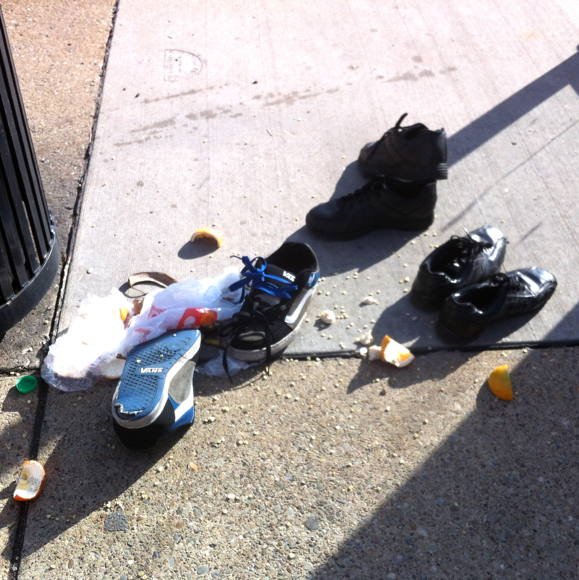 Abandoned Shoes: Bus Stop | The Ongoing History of Pittsburgh