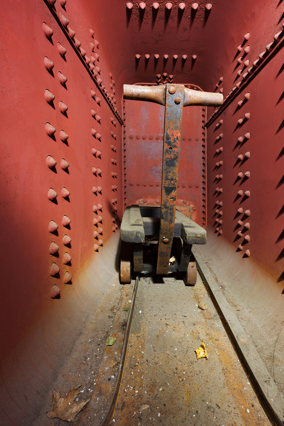 Abandoned silk mill wagon vault photo