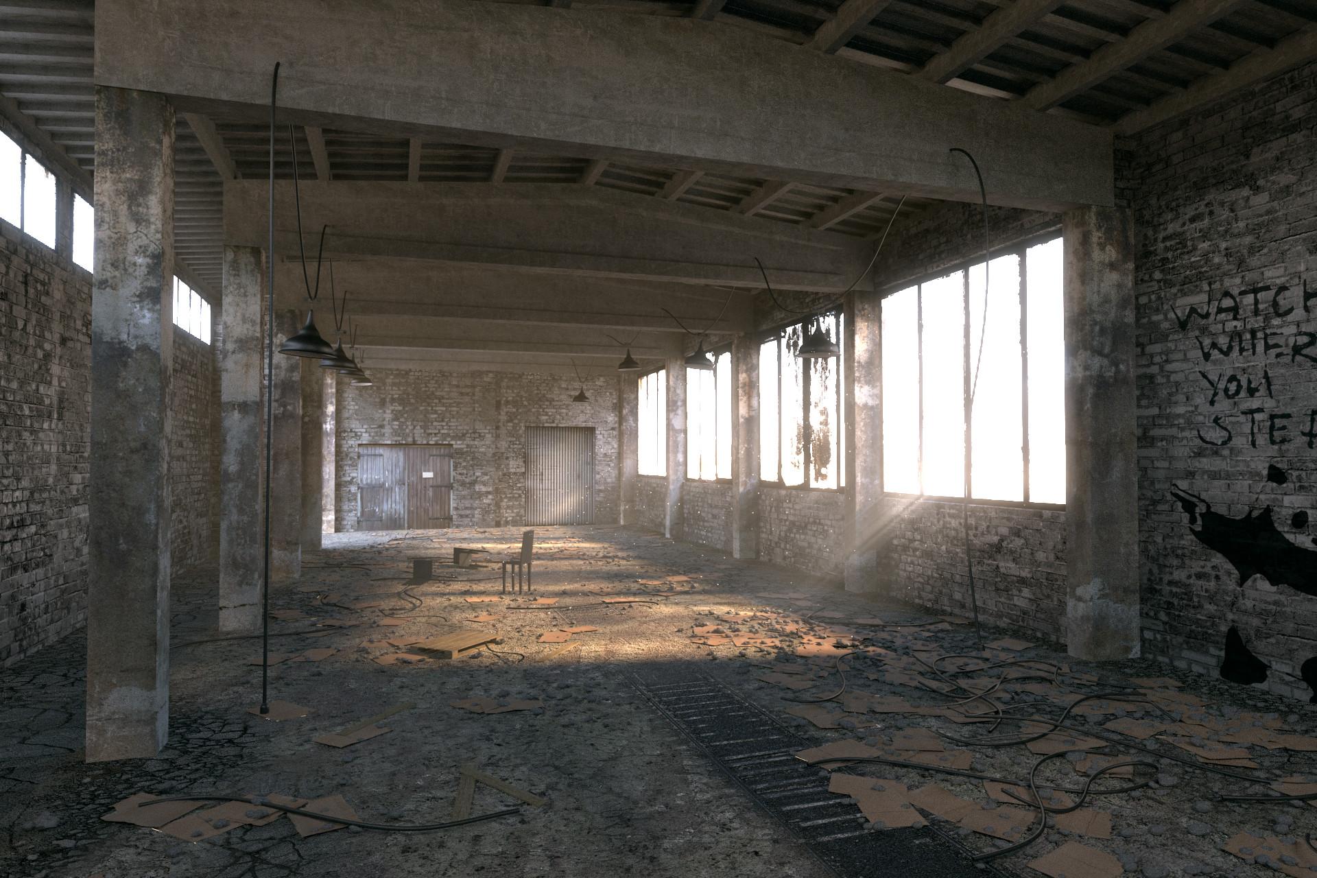 Abandoned warehouse photo