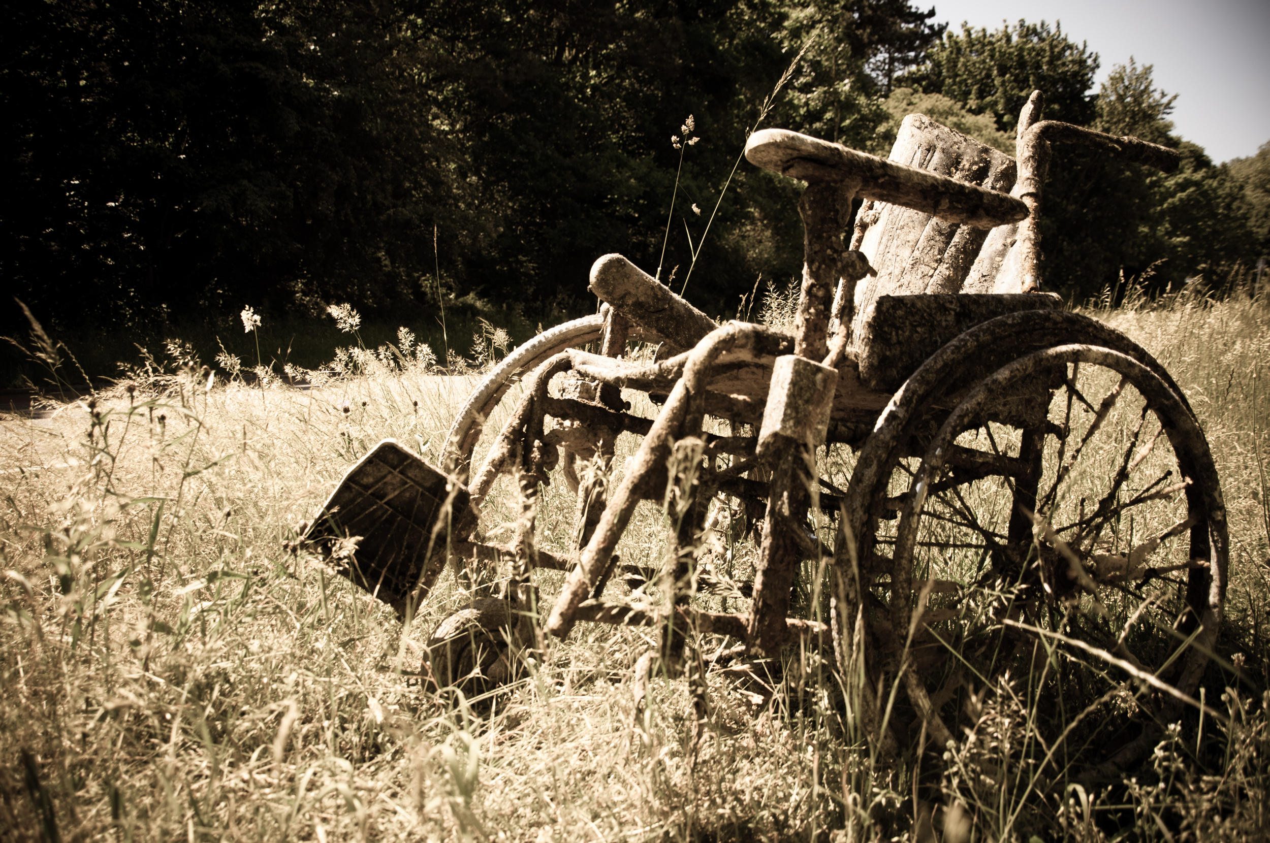 Abandoned Wheelchair, Abandoned, Rust, Old, Outside, HQ Photo
