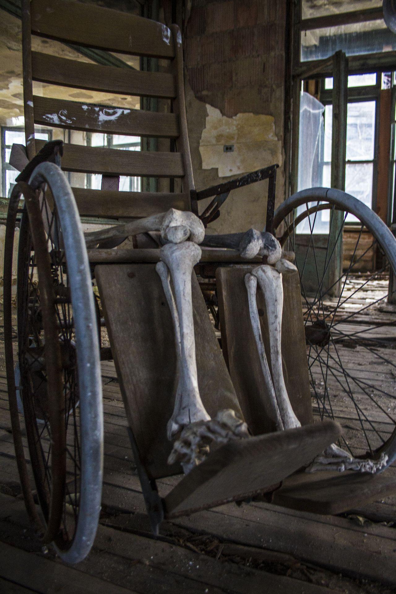 cmedekphoto: Bones in a wheelchair. | Photography | Abandoned (2 ...