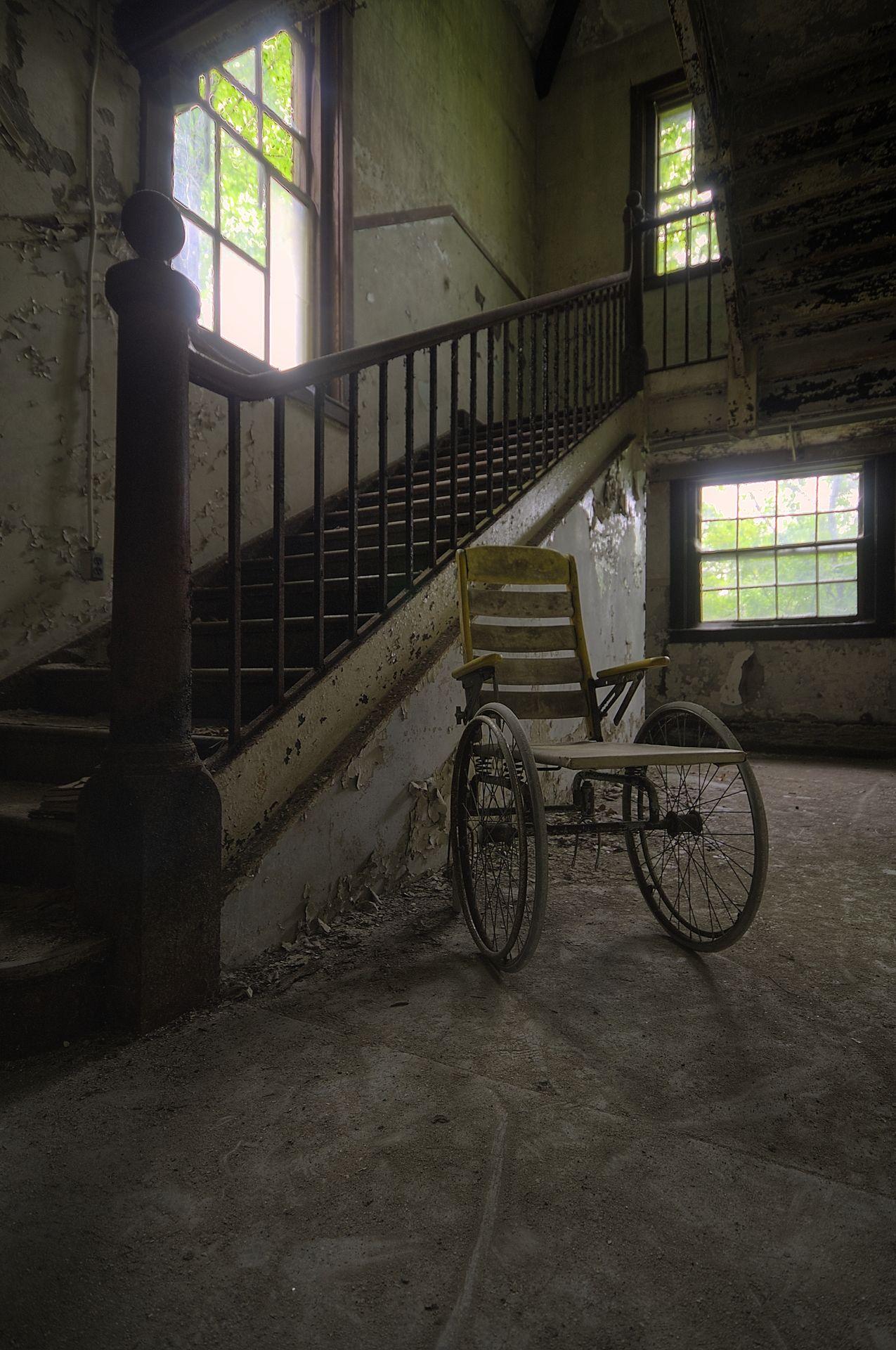 Abandoned wheelchair | ghostpast | Pinterest | Abandoned, Abandoned ...