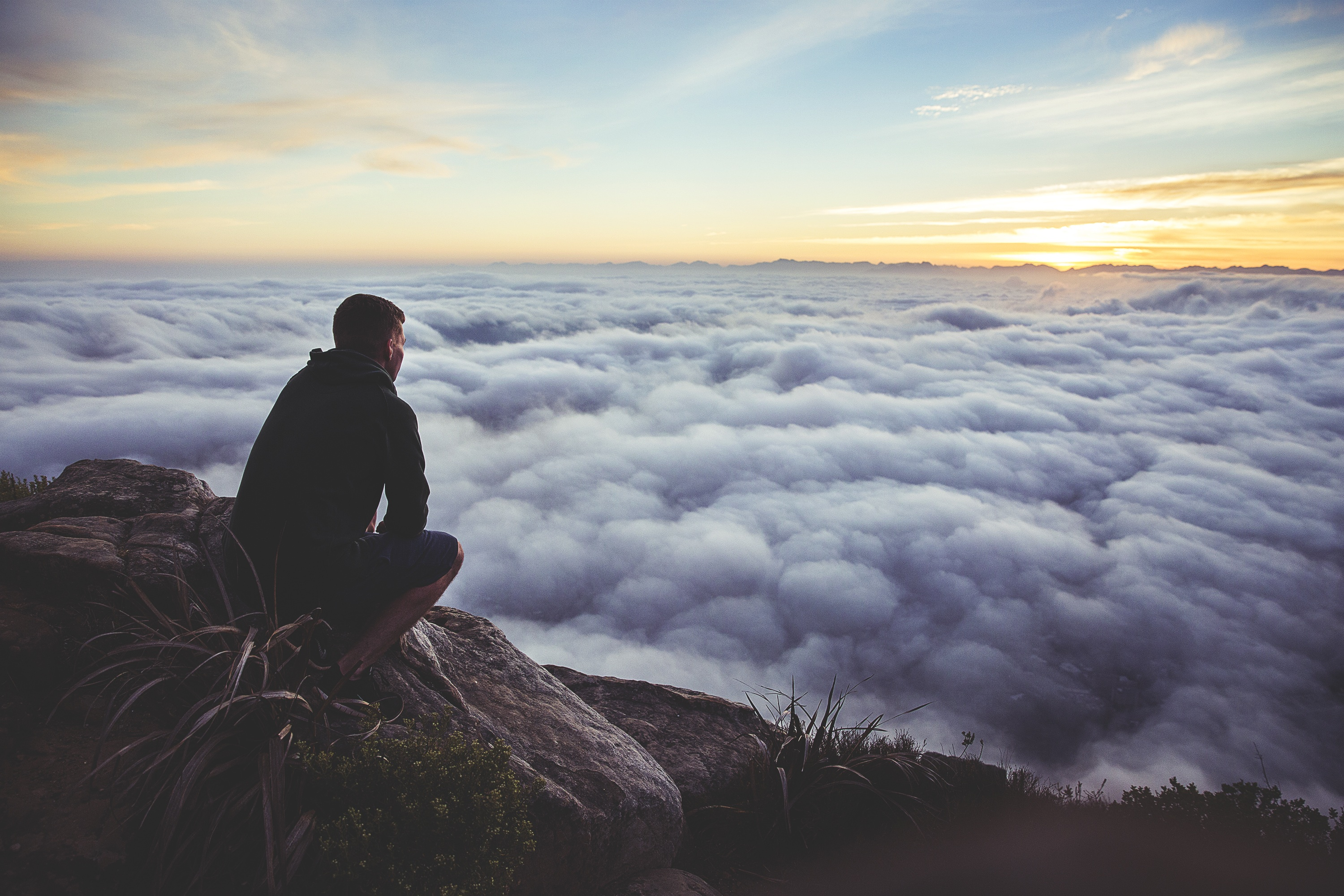 Free Photo Above The Clouds Alone Altitude Cloud Free Download Jooinn Alone man loneliness nature clouds rocks