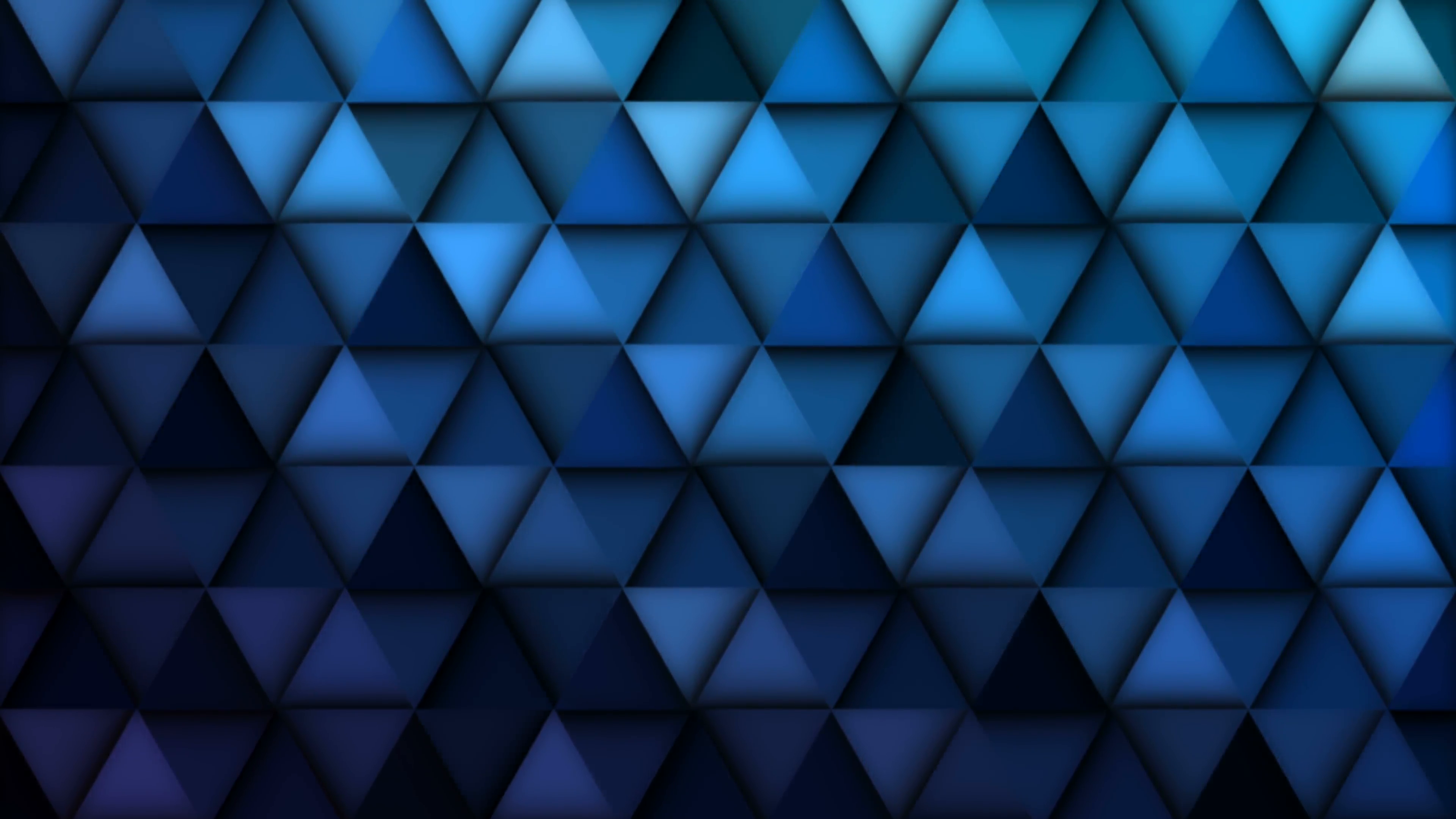 Blue geometric abstract background animation. 4K resolution ...