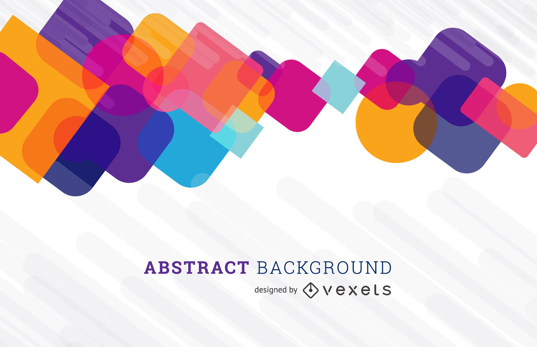 Abstract background with colorful shapes design - Vector download