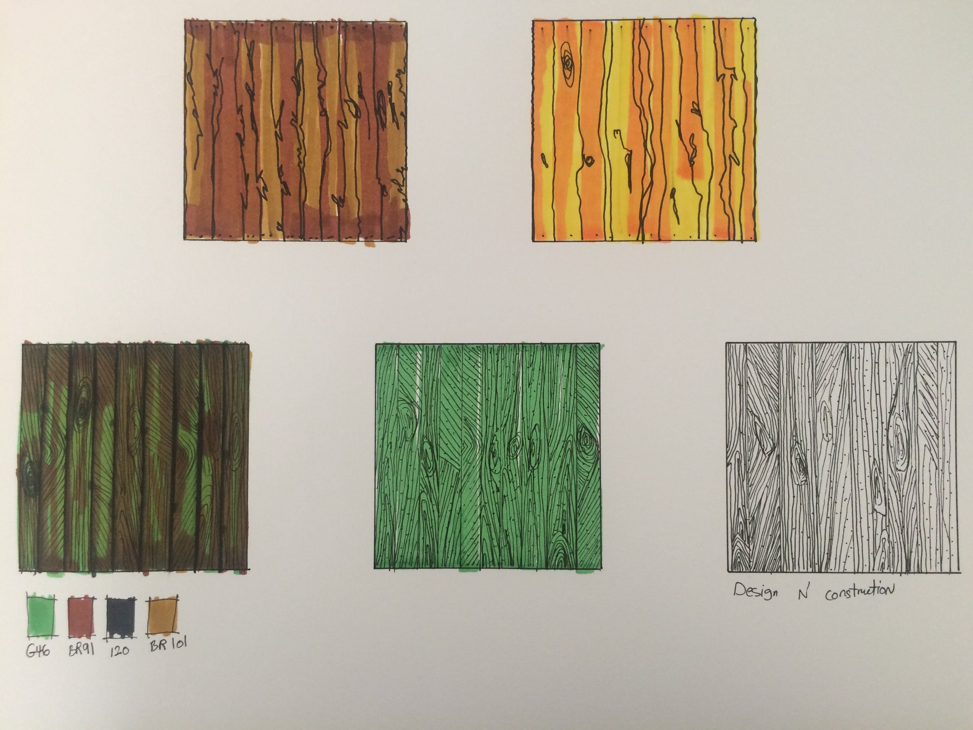 Abstract Texture Lesson #4: Bamboo or Russian Wood | paintinf ...