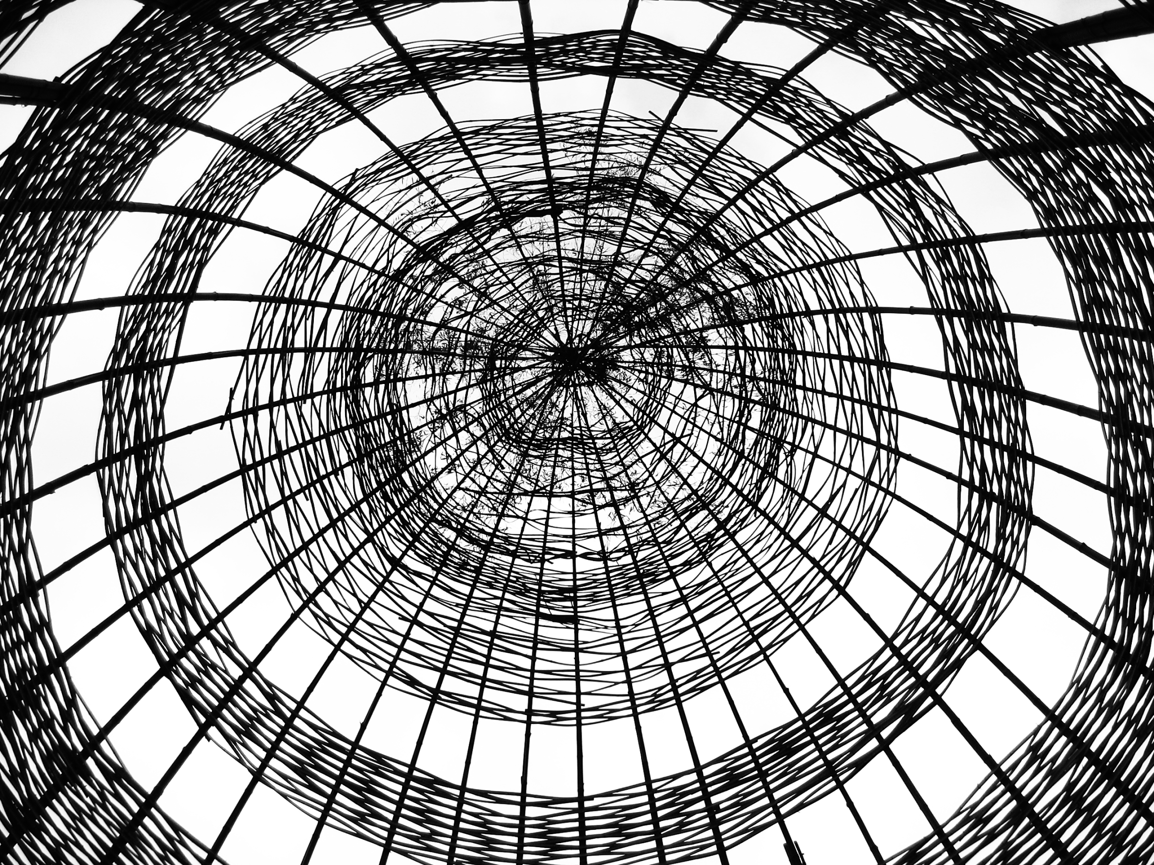 Abstract Bamboo Construction, Abstract, Motion, Thatched, Swirl, HQ Photo