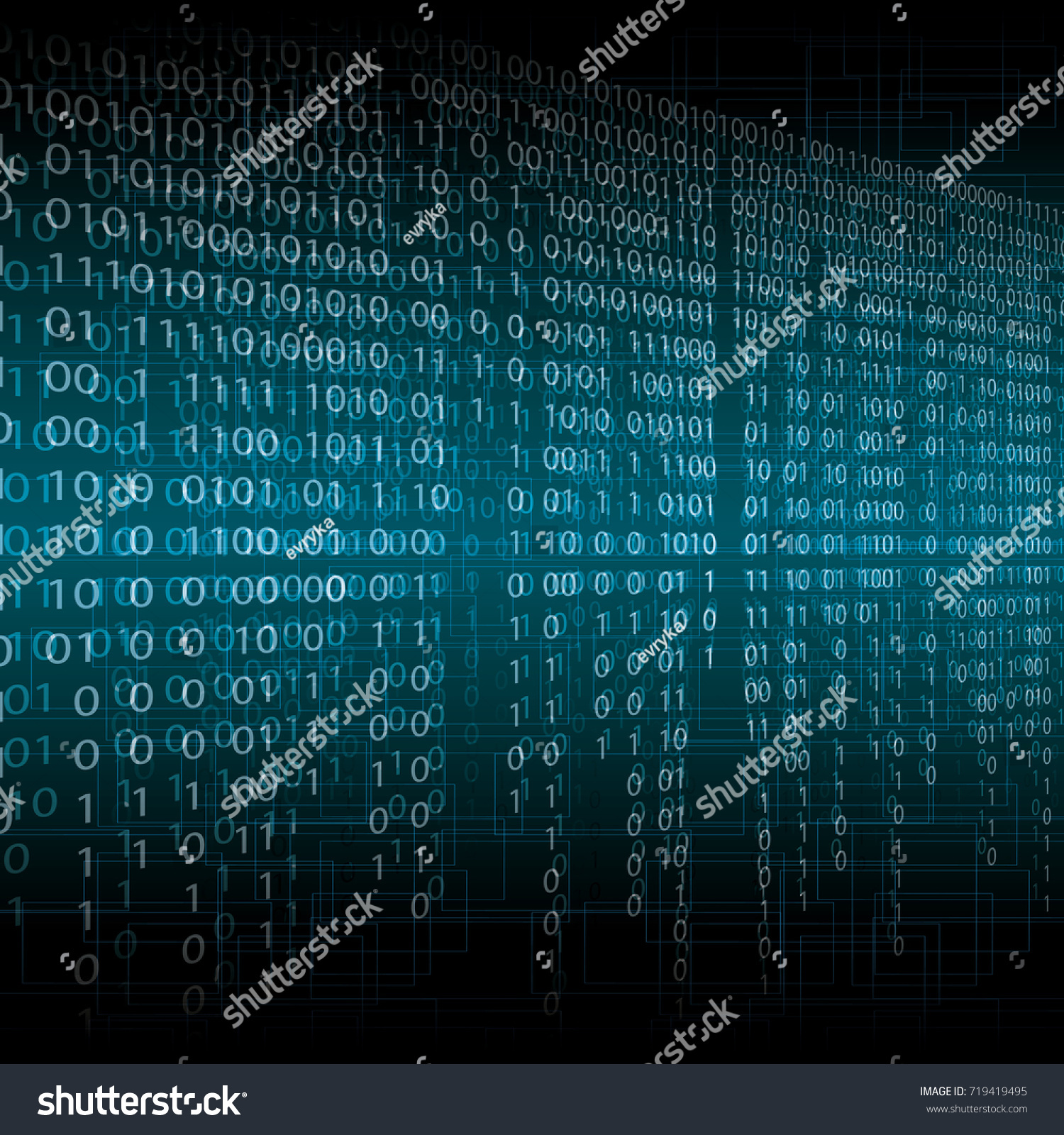 Abstract Tech Blur Blurry Binary Blue Stock Illustration 719419495 ...