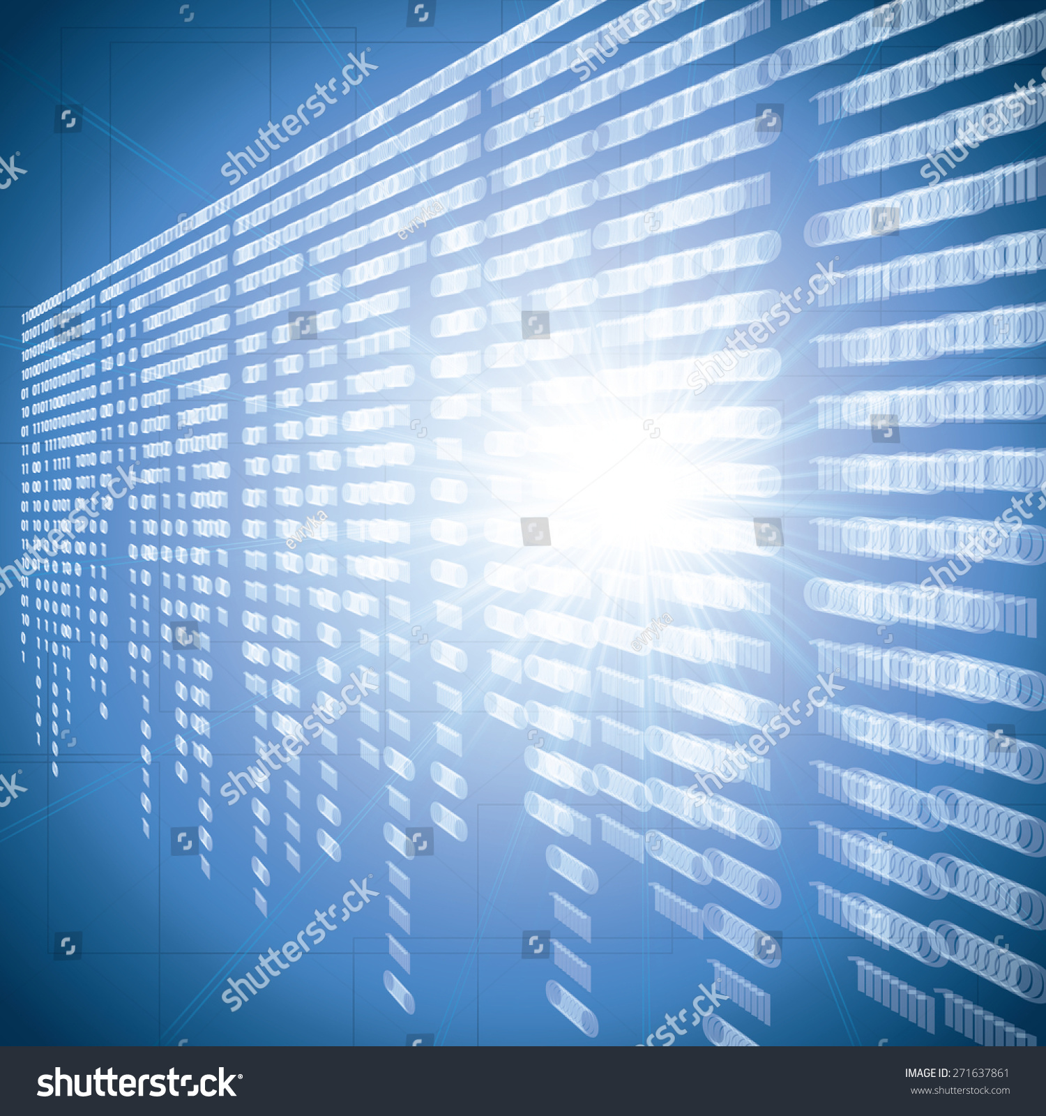 Abstract Tech Blur Blurry Binary Blue Stock Illustration 271637861 ...