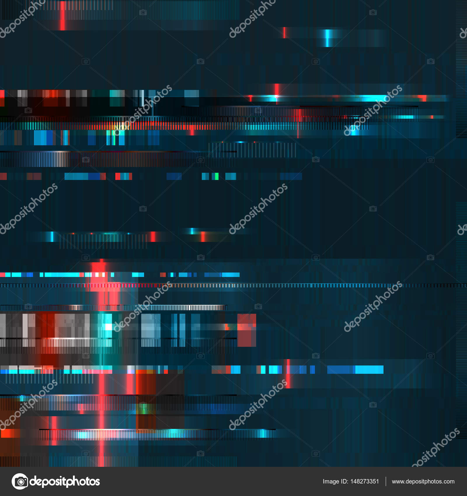 Glitch-Abstract-Blurred-Background — Stock Vector © SMSka #148273351