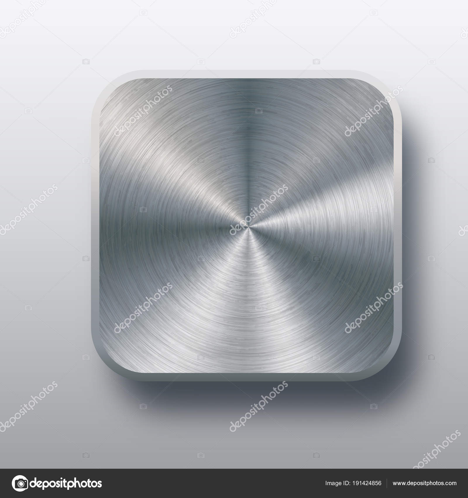 Abstract chrome shape photo