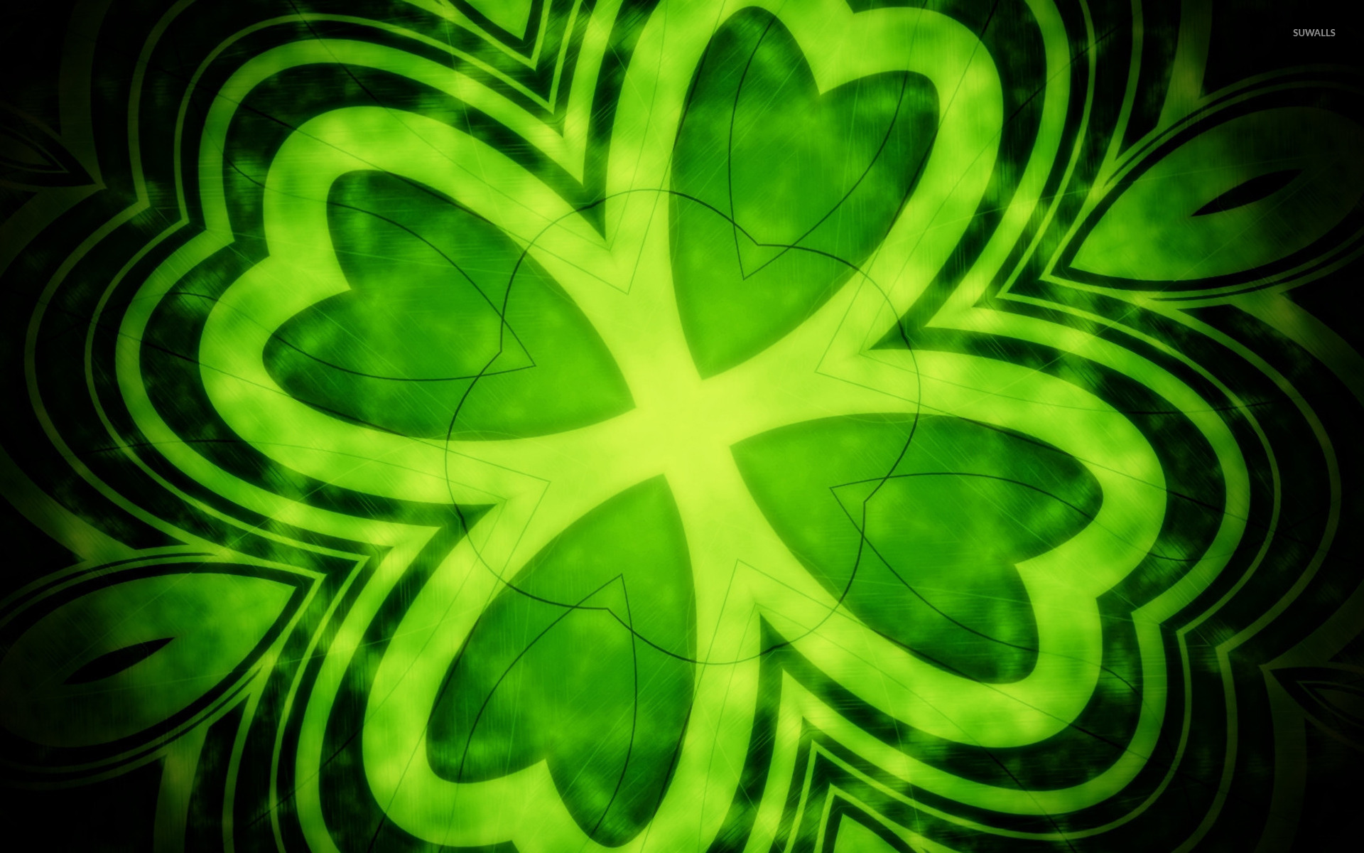 Four leaf clover wallpaper - Abstract wallpapers - #14202