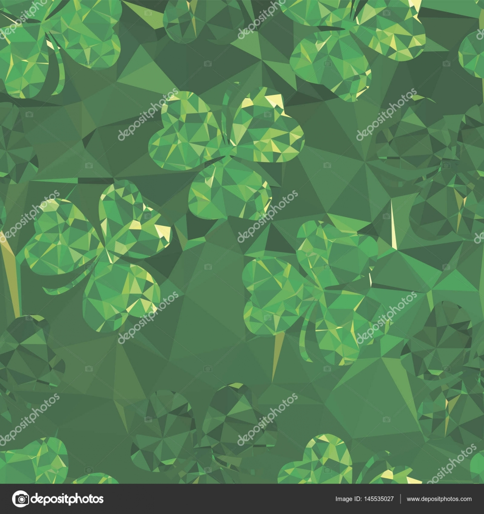 floral seamless pattern abstract clover, — Stock Vector © natwil ...