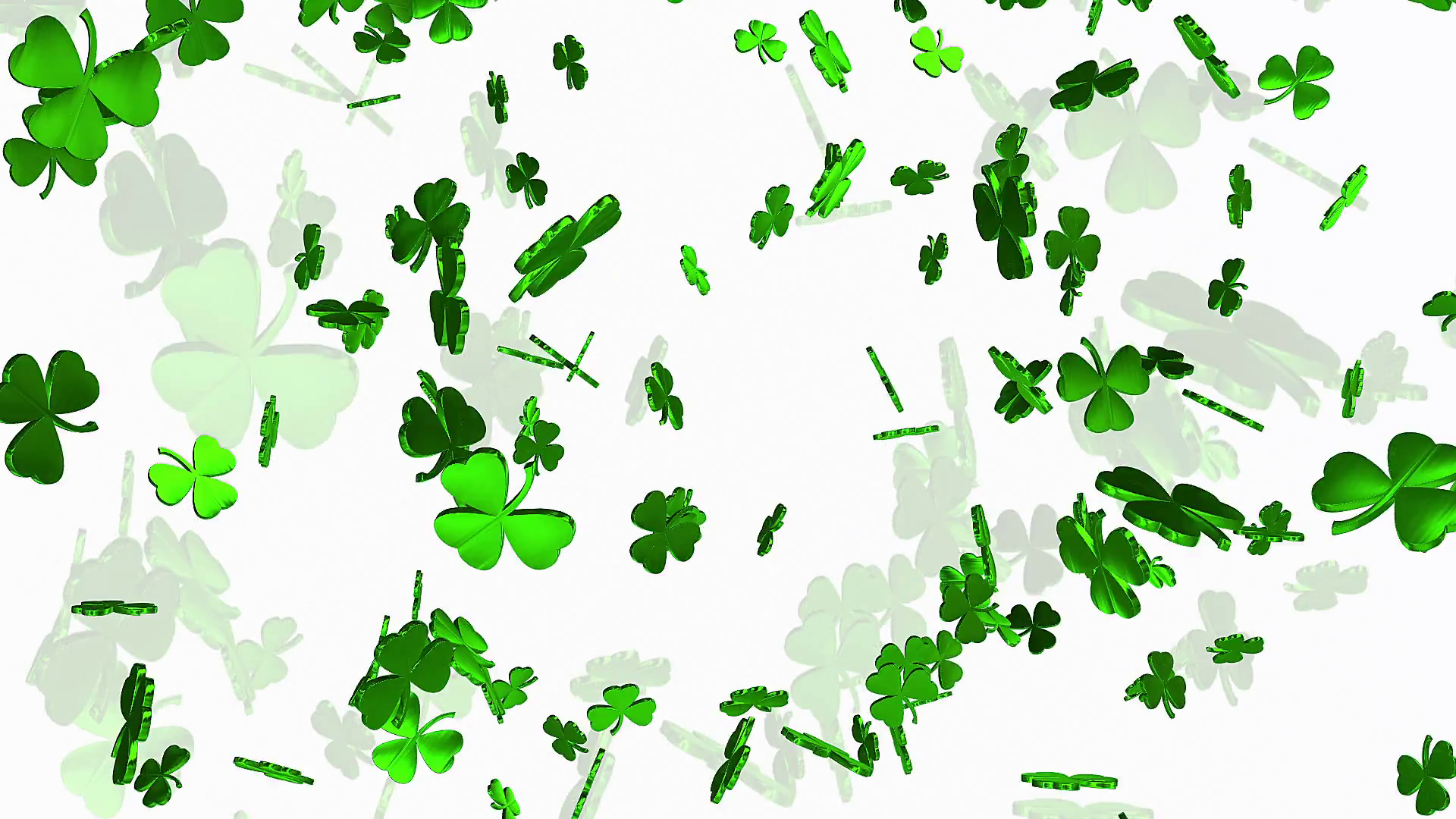 Abstract clover leaves on a white Stock Video Footage - VideoBlocks
