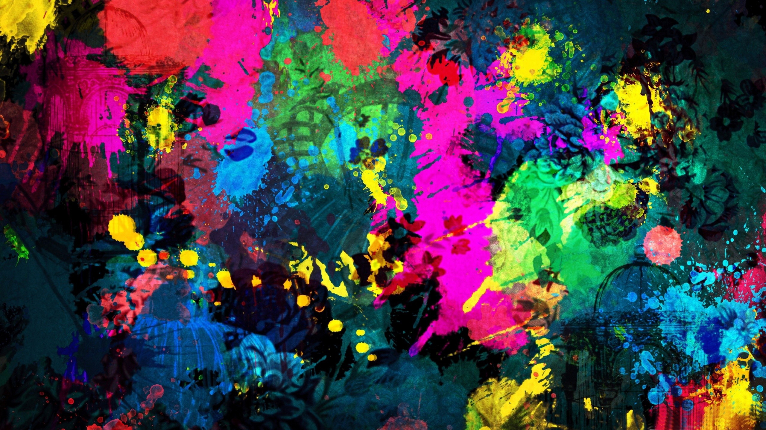 Abstract Mixed Paint Colors wallpaper | 3d and abstract | Wallpaper ...