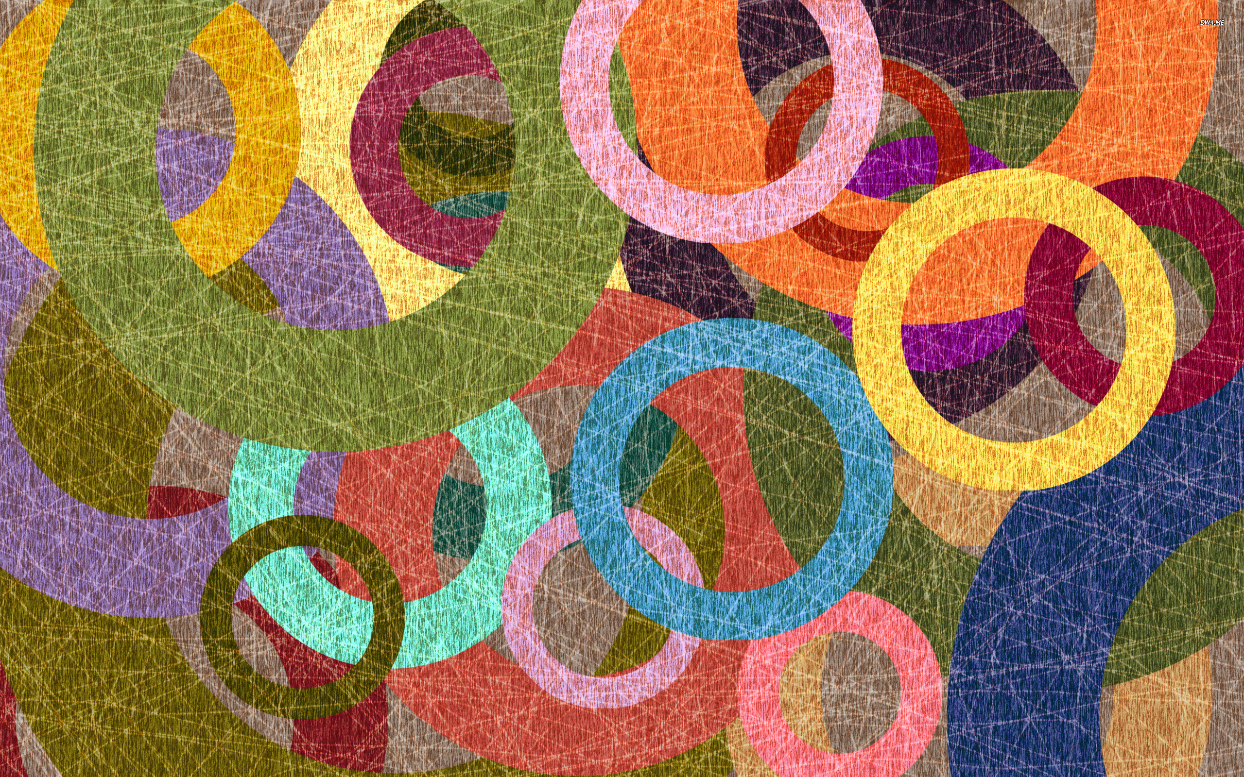 Colorful circles wallpaper - Abstract wallpapers - #702