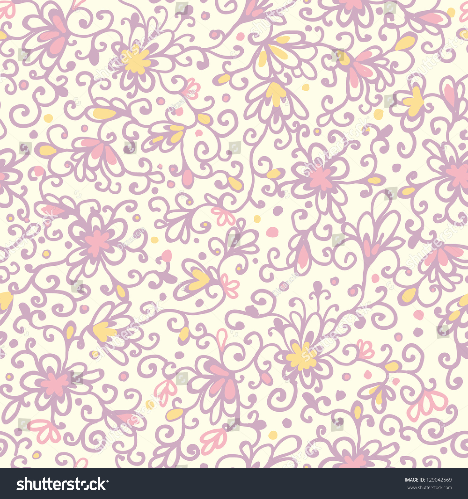 Abstract Floral Texture Seamless Pattern Background Stock ...