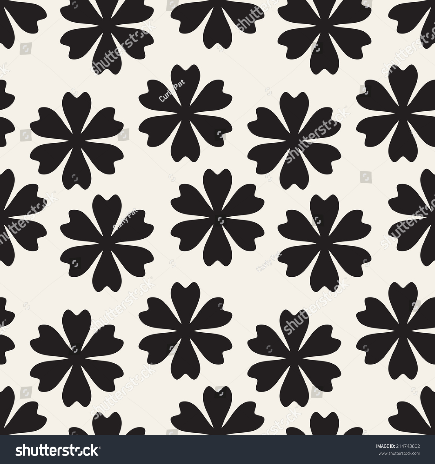 Vector Seamless Pattern Flowers Abstract Floral Stock Vector ...