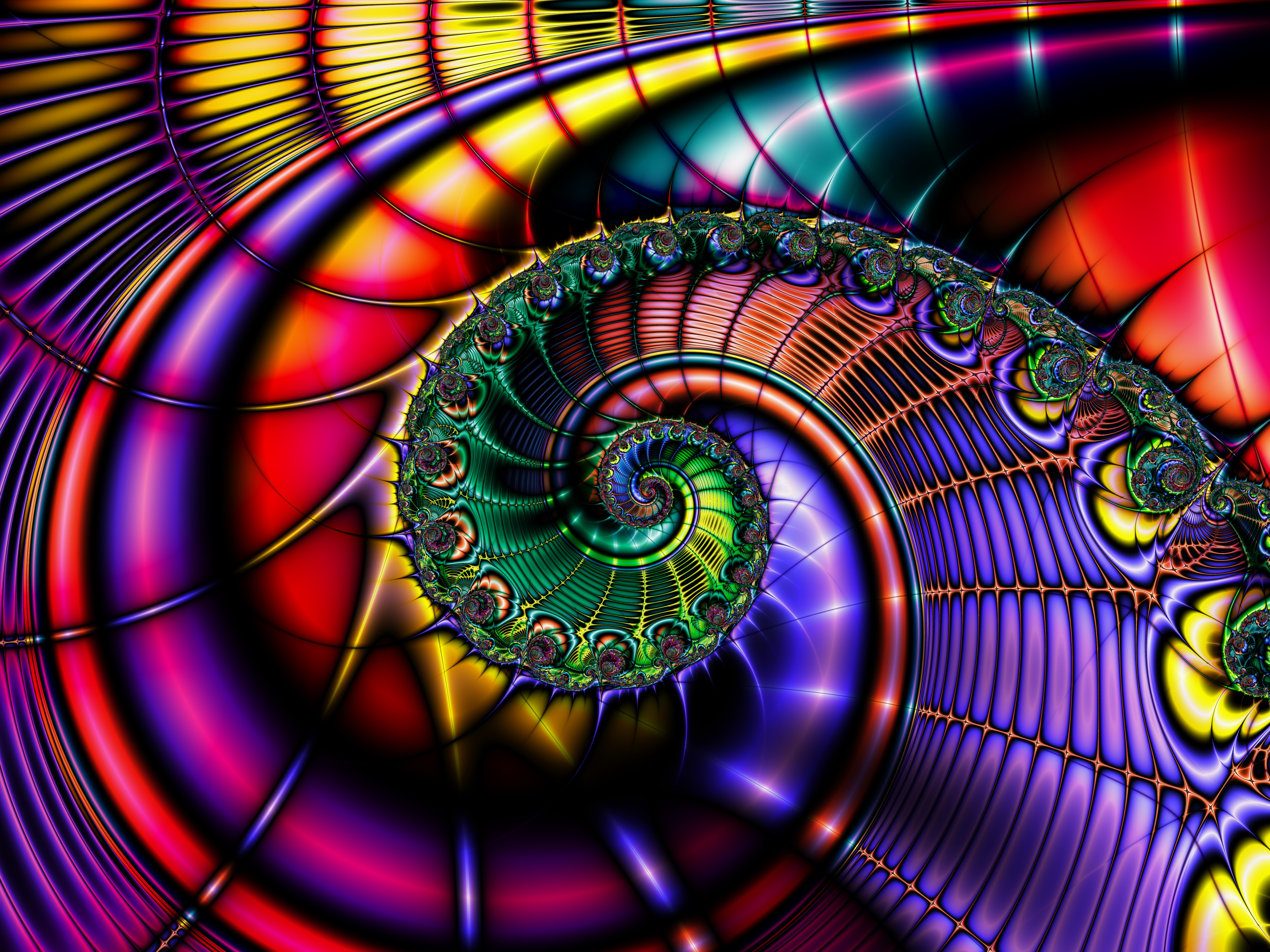 free photo: abstract fractal background - wallpaper, fractal