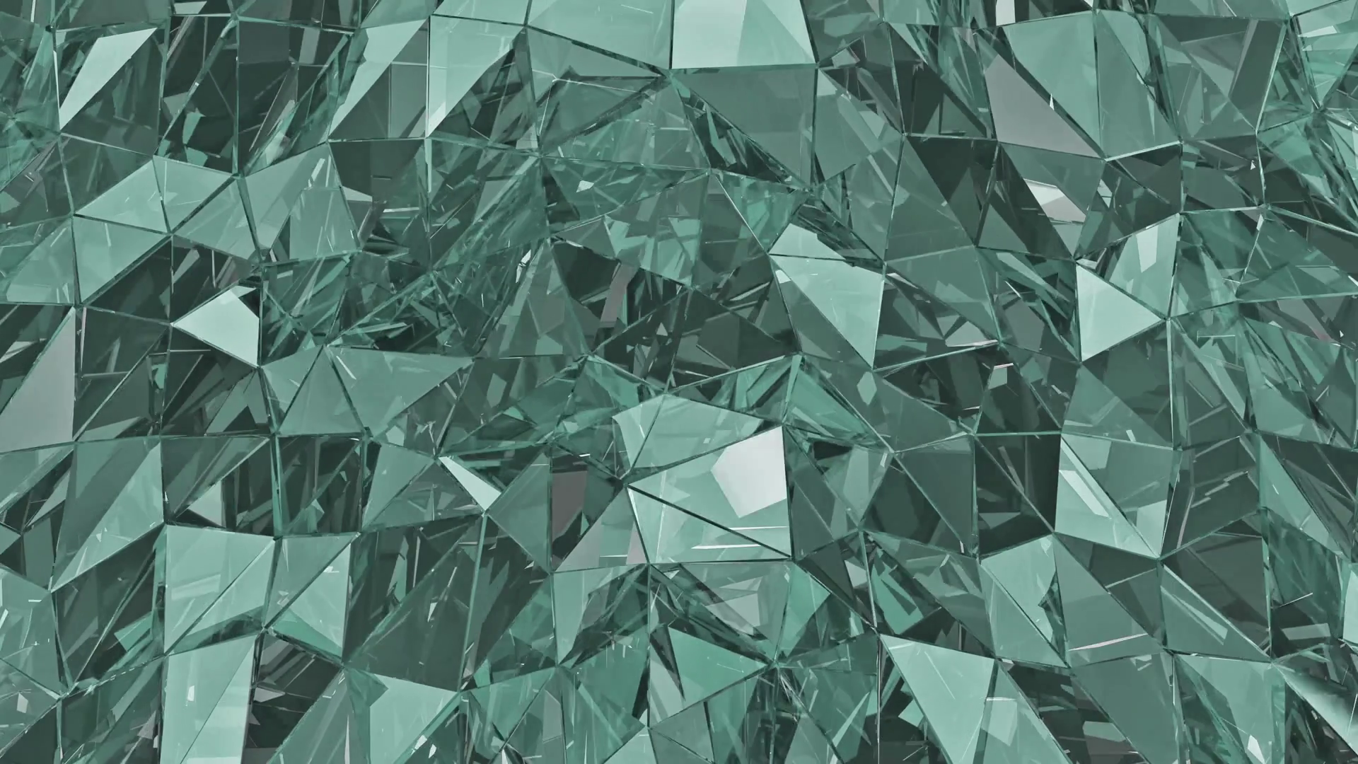 Abstract glass background. Loop. 3D render. Polygonal surface. Glass ...