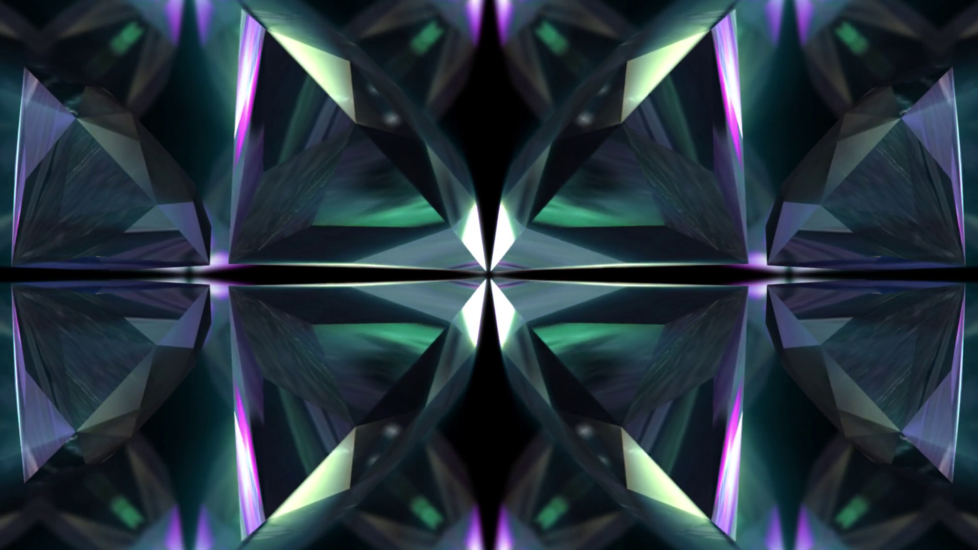 Seamless animation of abstract colorful geometric crystal glass or ...
