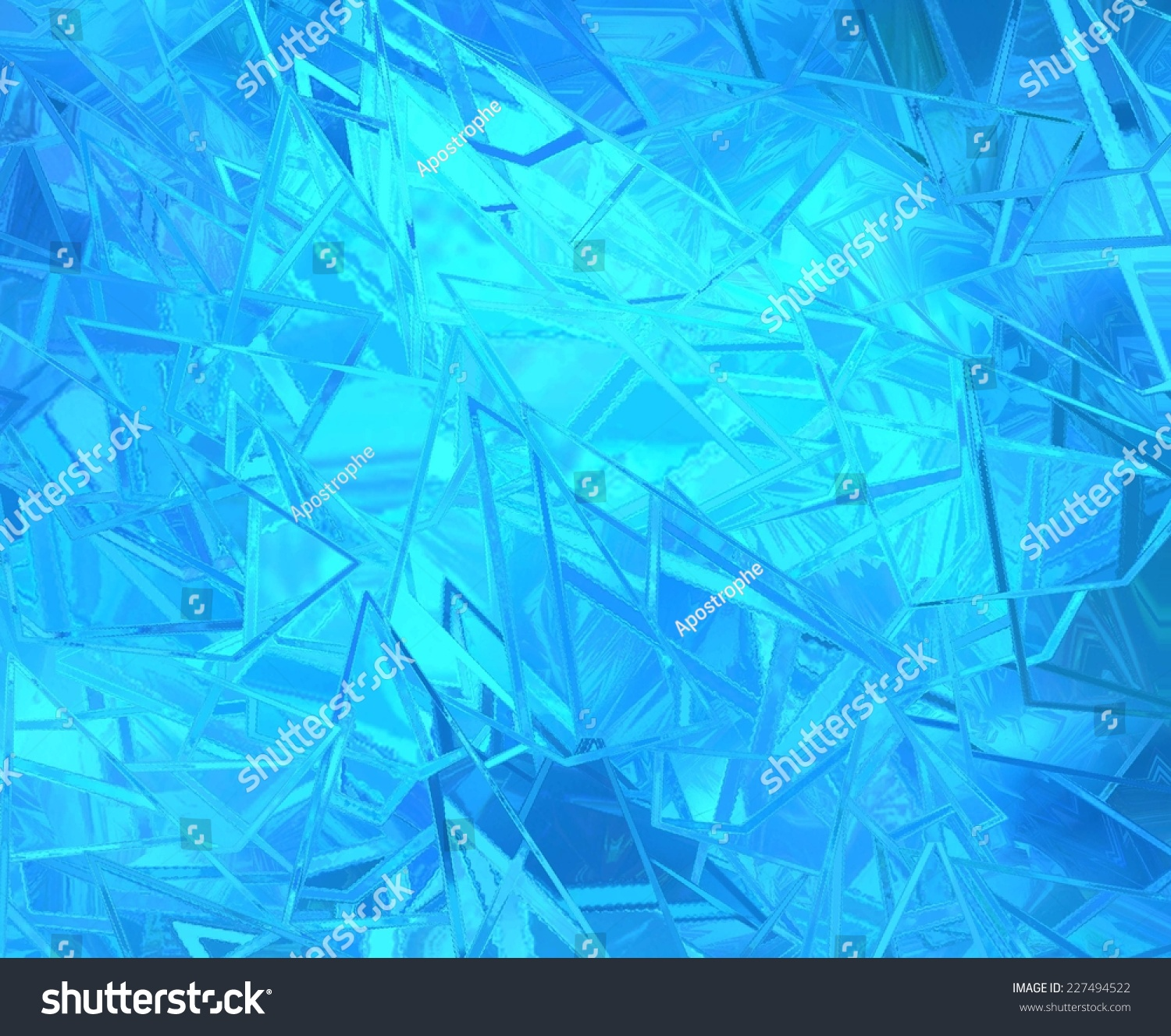 Abstract Blue Background Shattered Glass On Stock Illustration ...