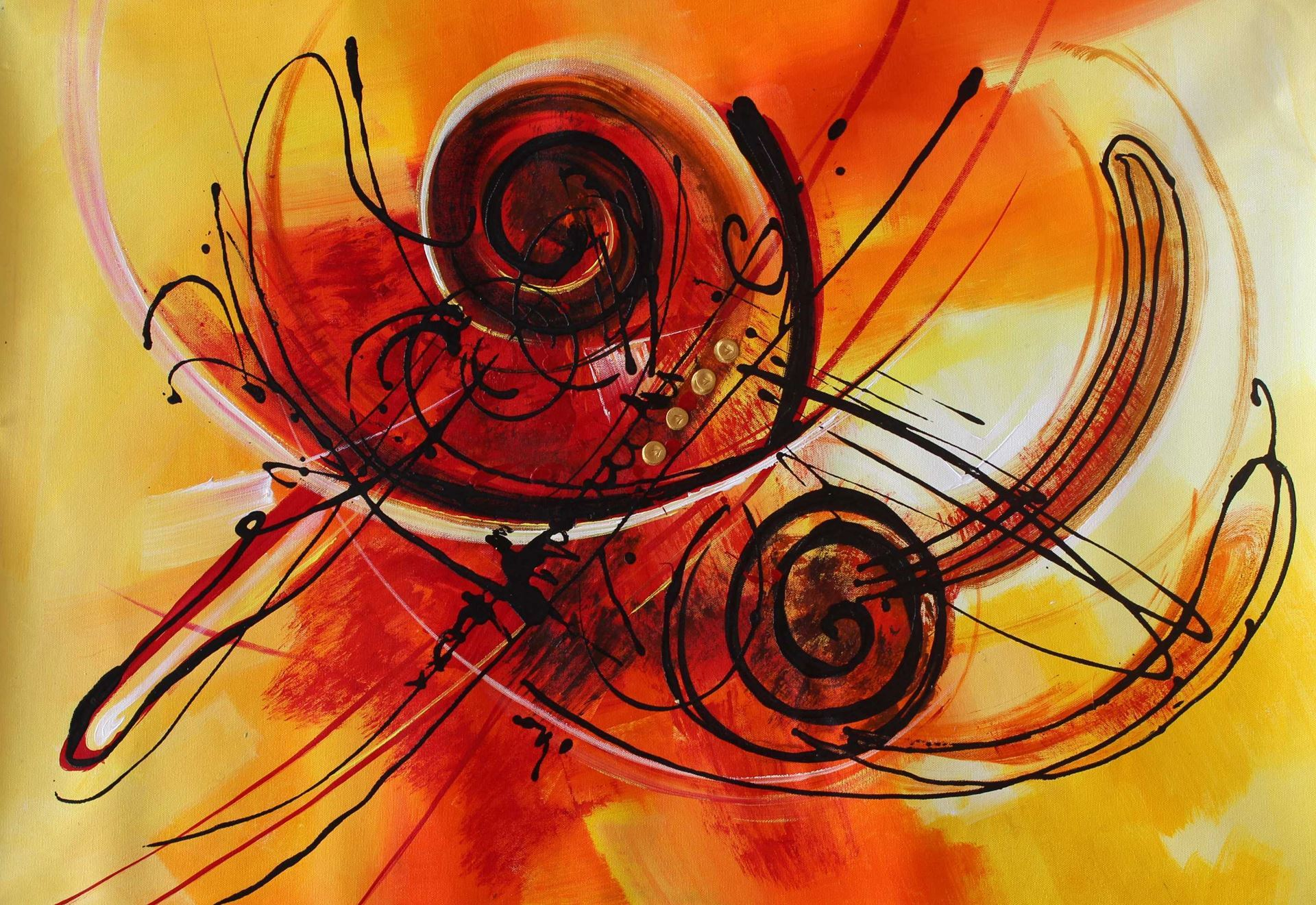 Abstract Paintinng | Puzzle Of Life-II | Acrylic On Canvas 24x36 ...