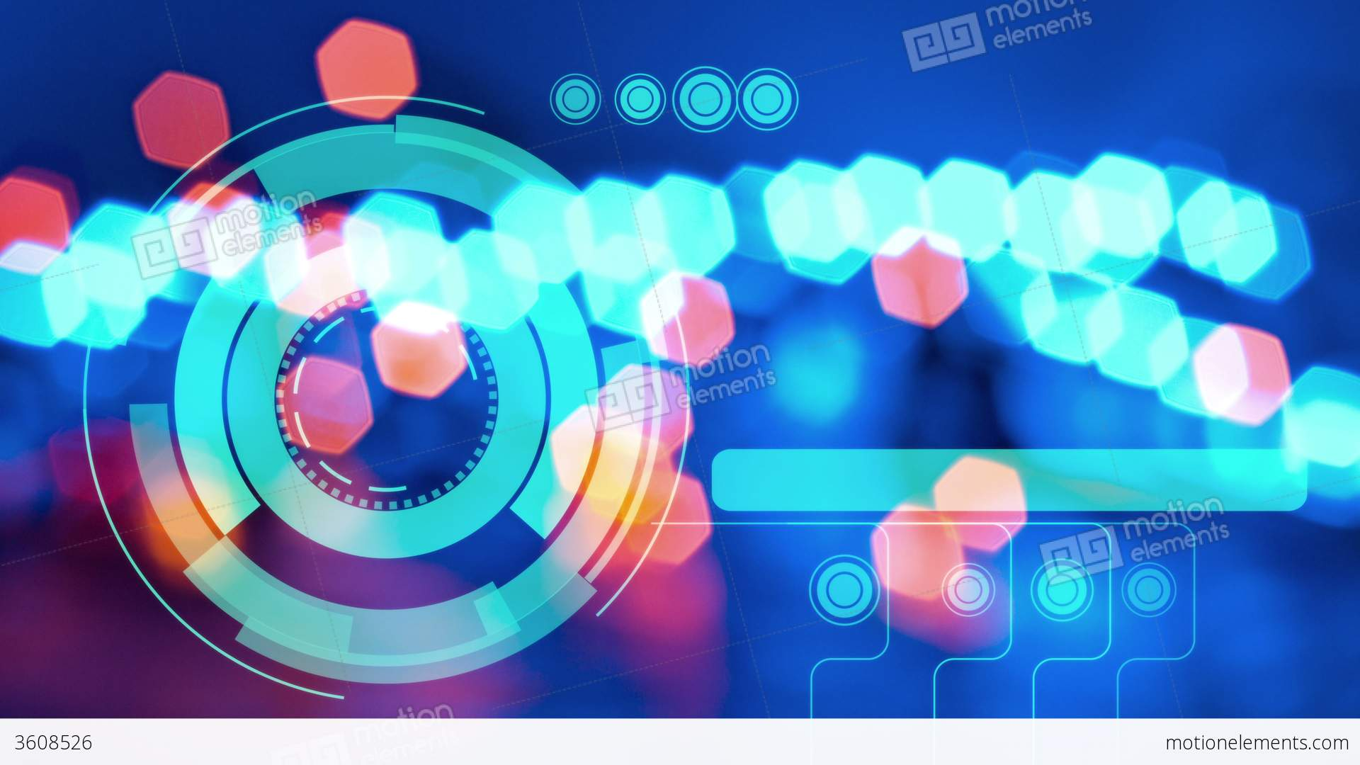 4k Abstract Lights Background, Hologram Futuristic Stock video ...