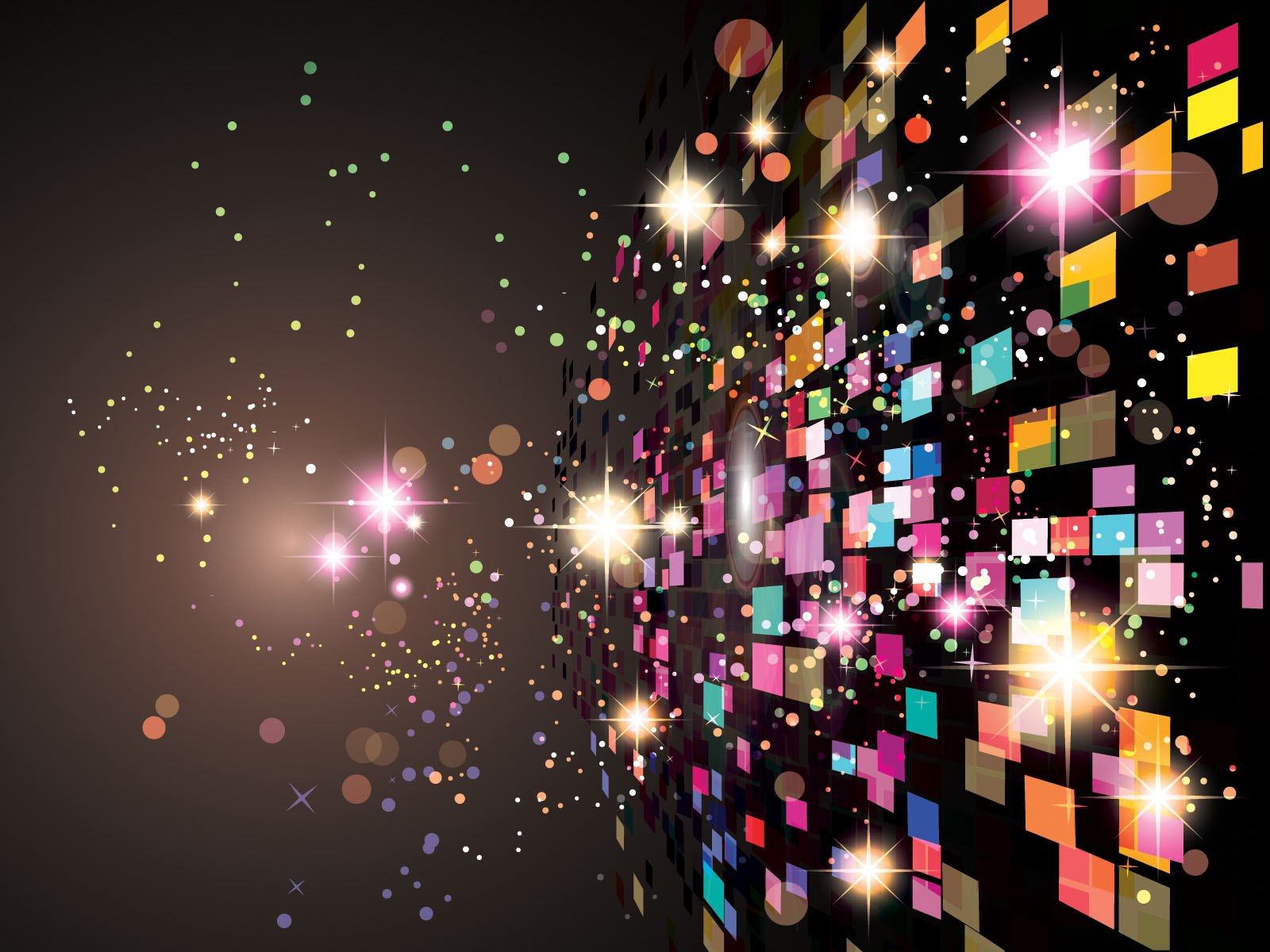 World Lights Abstract Powerpoint Templates - Abstract, Black ...