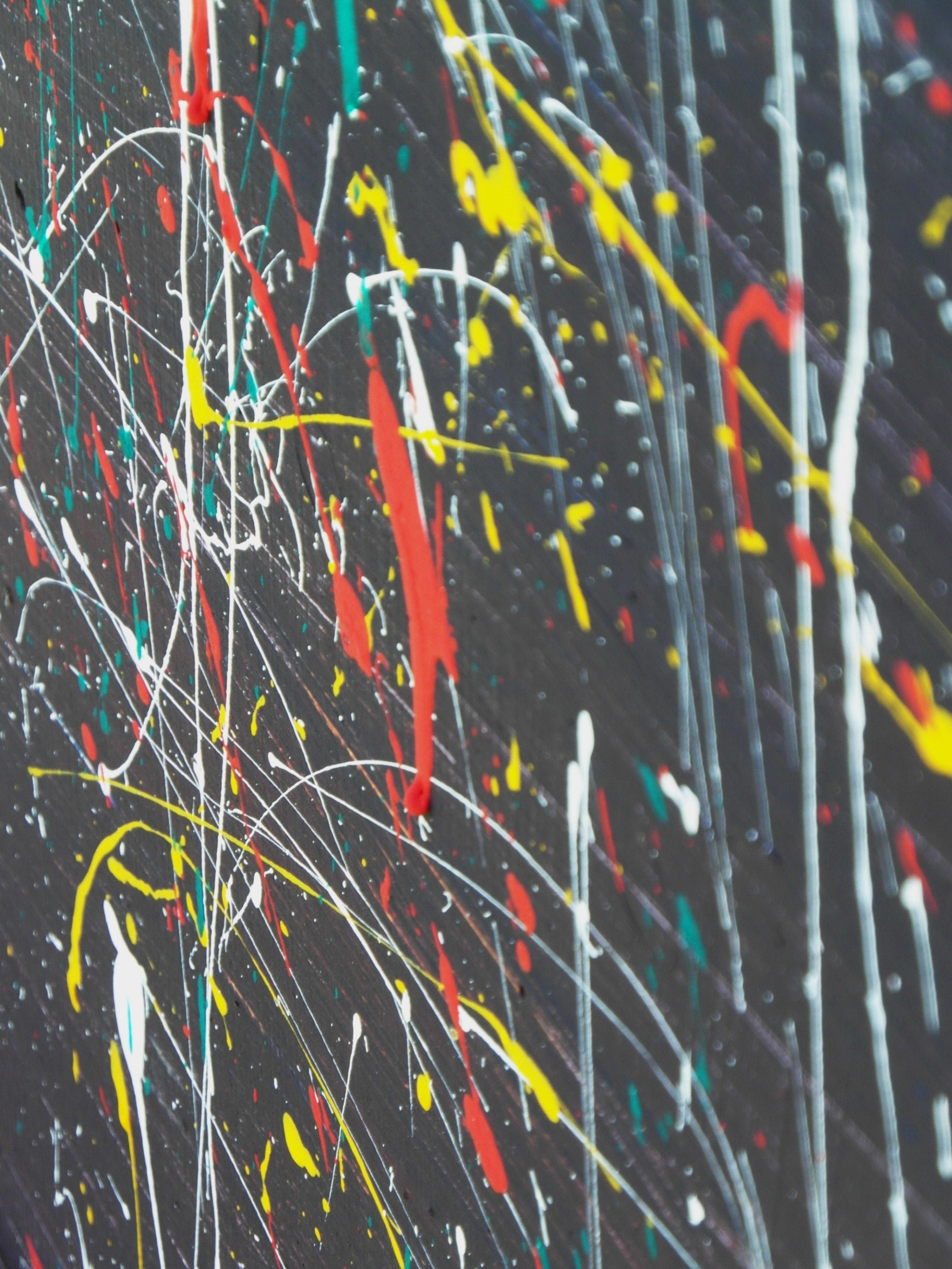 Abstract paint dripping background photo