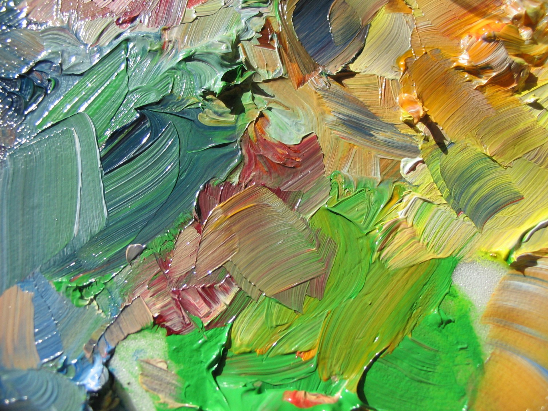 canvas paint smears abstract HD wallpaper