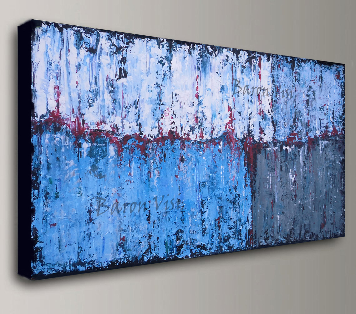 Abstract painted canvas photo