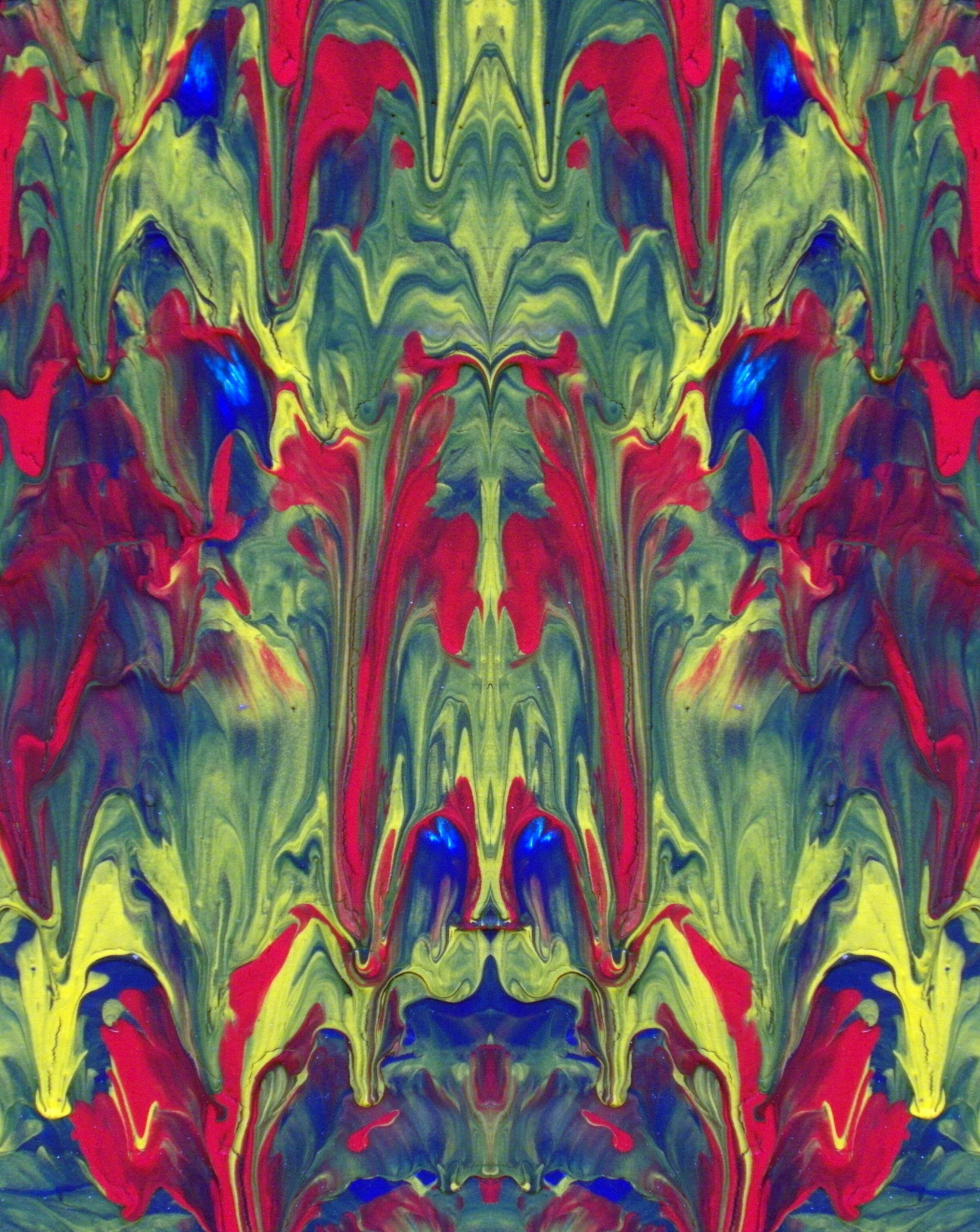 Abstract painted mirror effect photo