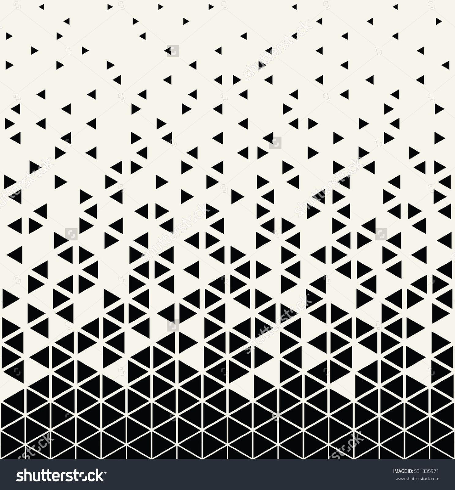 Abstract geometric hipster fashion design print triangle pattern ...