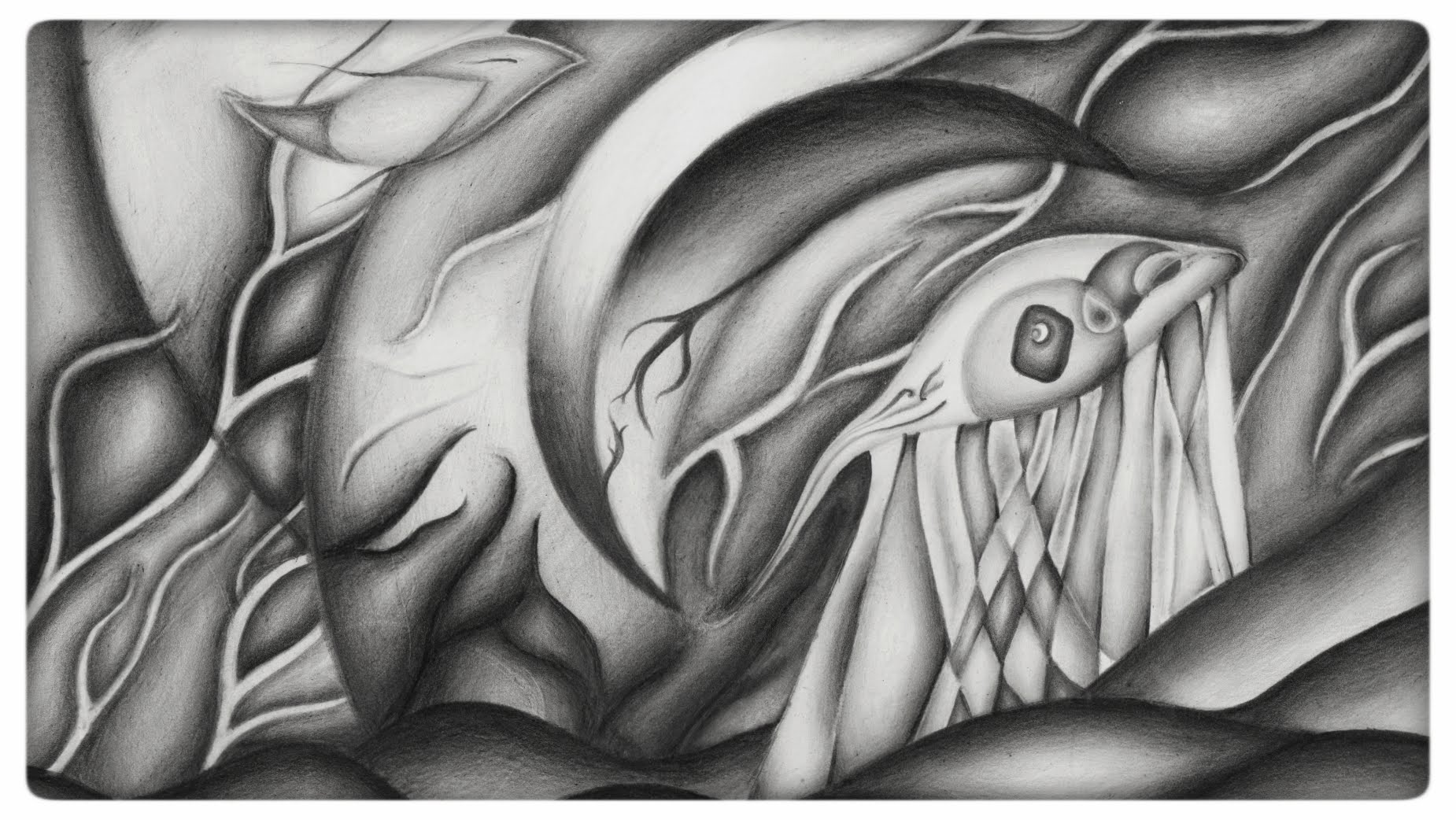 Wanderer - Abstract art, Graphite drawing [Timelapse] - YouTube