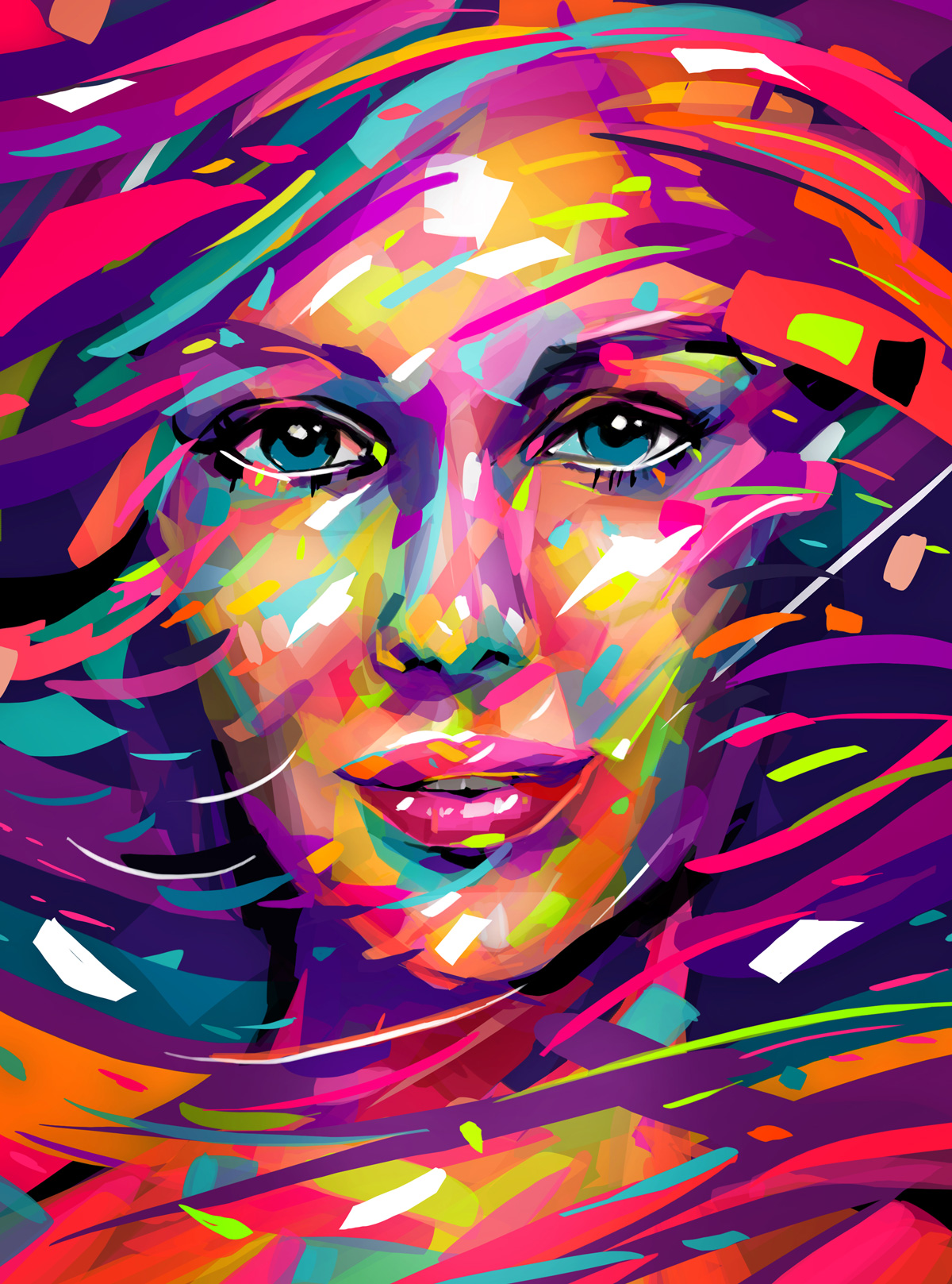 free photo abstract portrait portraits texture painting free