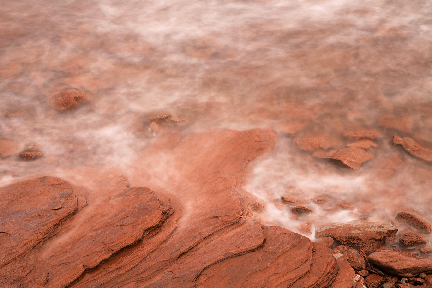 Abstract red sandstone coast photo
