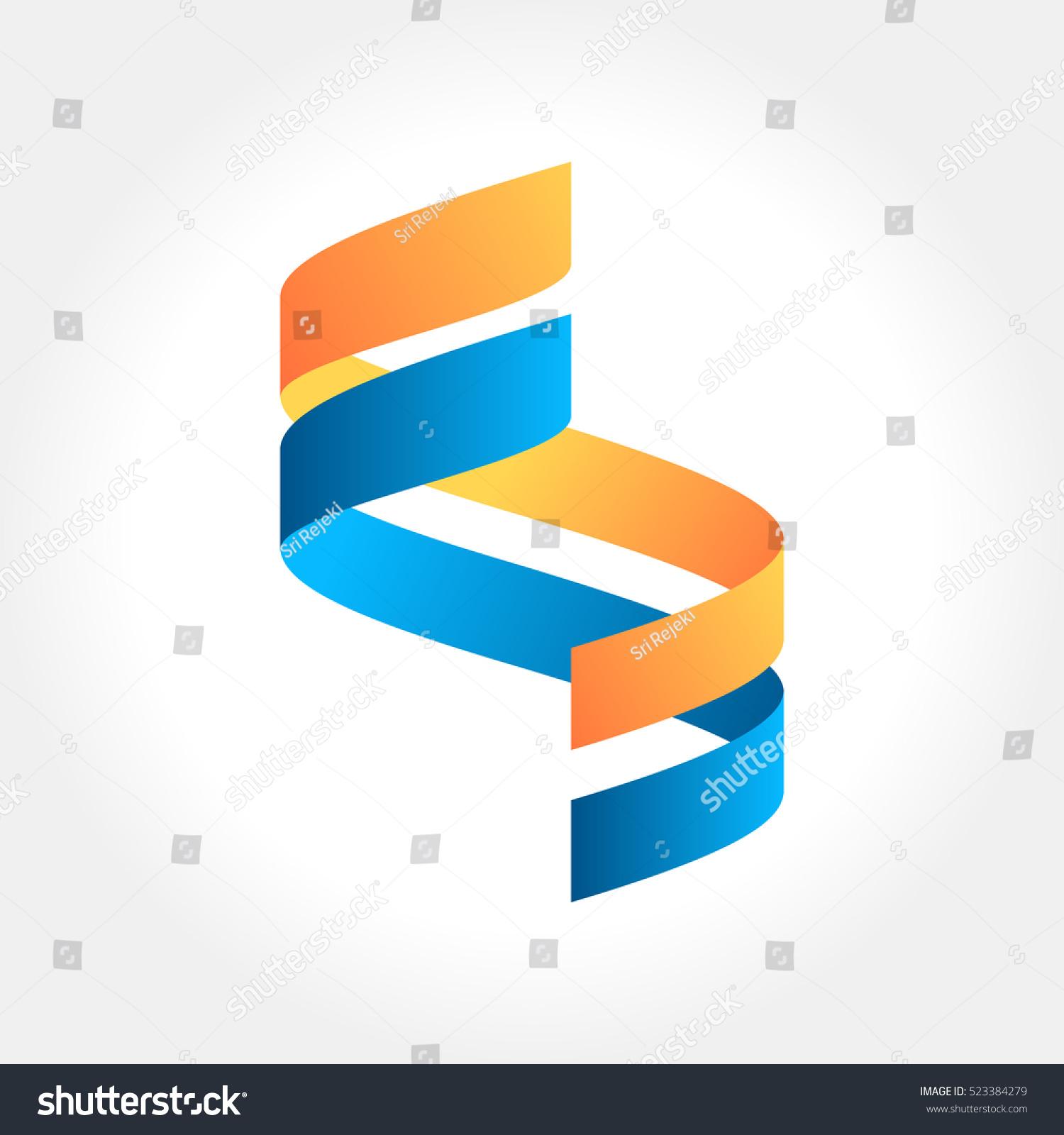 Ribbon Logo Abstract Shape Vector Illustration Stock Photo (Photo ...