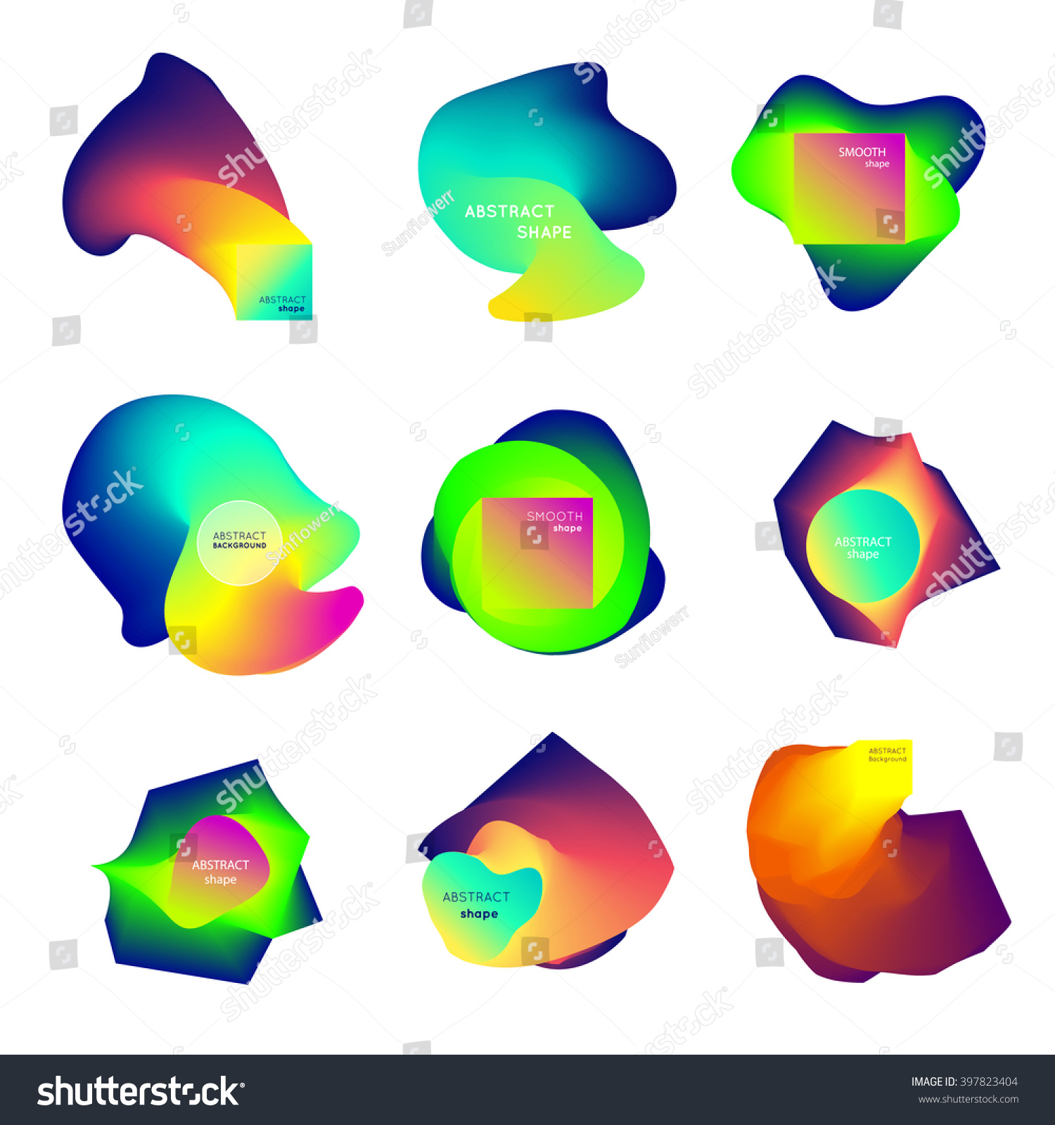 Vector Abstract Shapes Smooth Flow Abstract Stock Vector (2018 ...