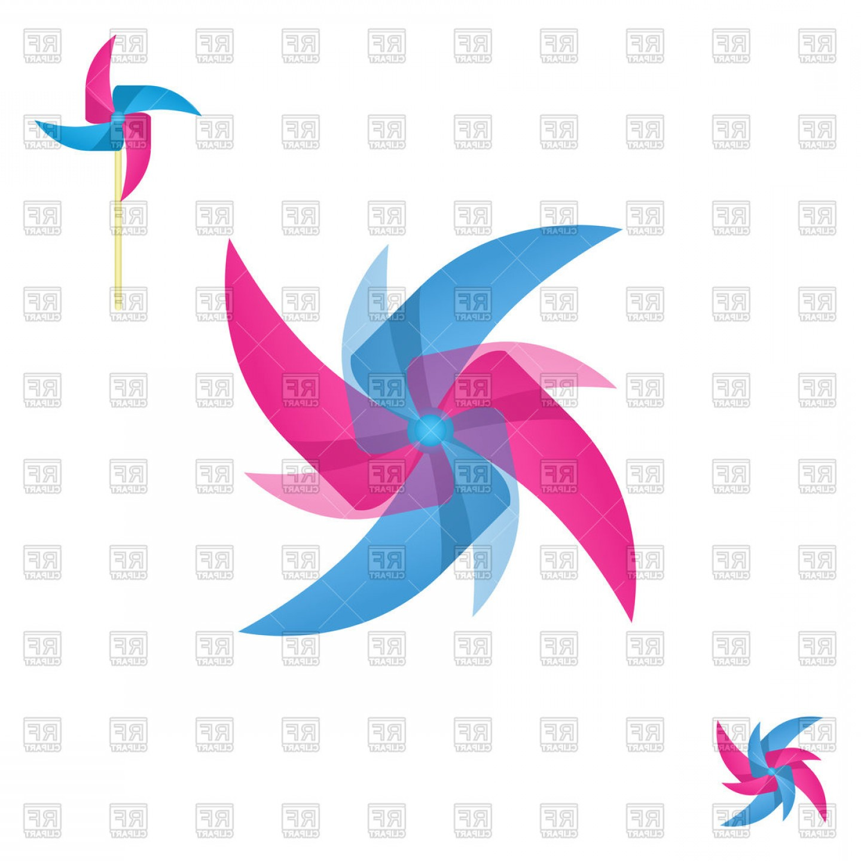 Pinwheel Abstract Shape Rotating Icon Vector Clipart   CreateMePink