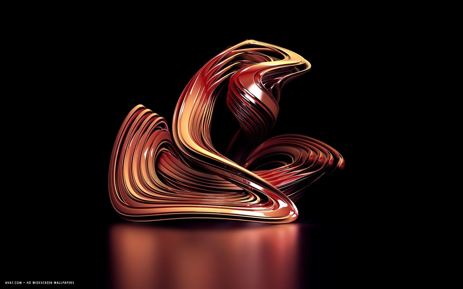 3d sculpture red abstract shape hd widescreen wallpaper / 3d backgrounds