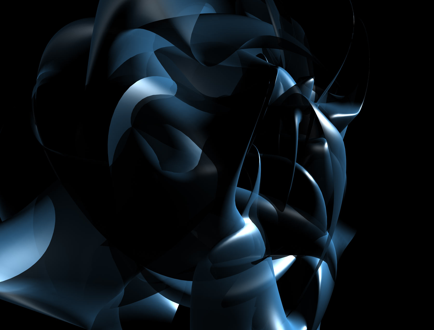 Abstract Shape, 3d, Abstract, Black, Blue, HQ Photo