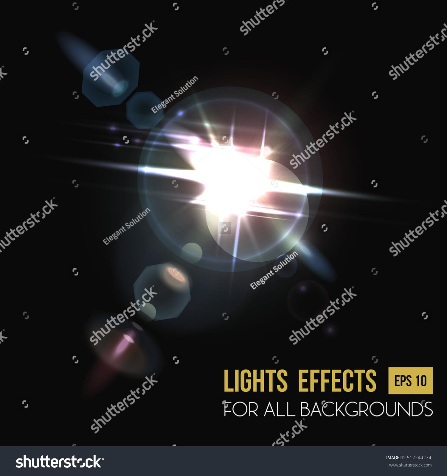 Light Effect Sunbeam Background Through Lens Stock Vector HD ...