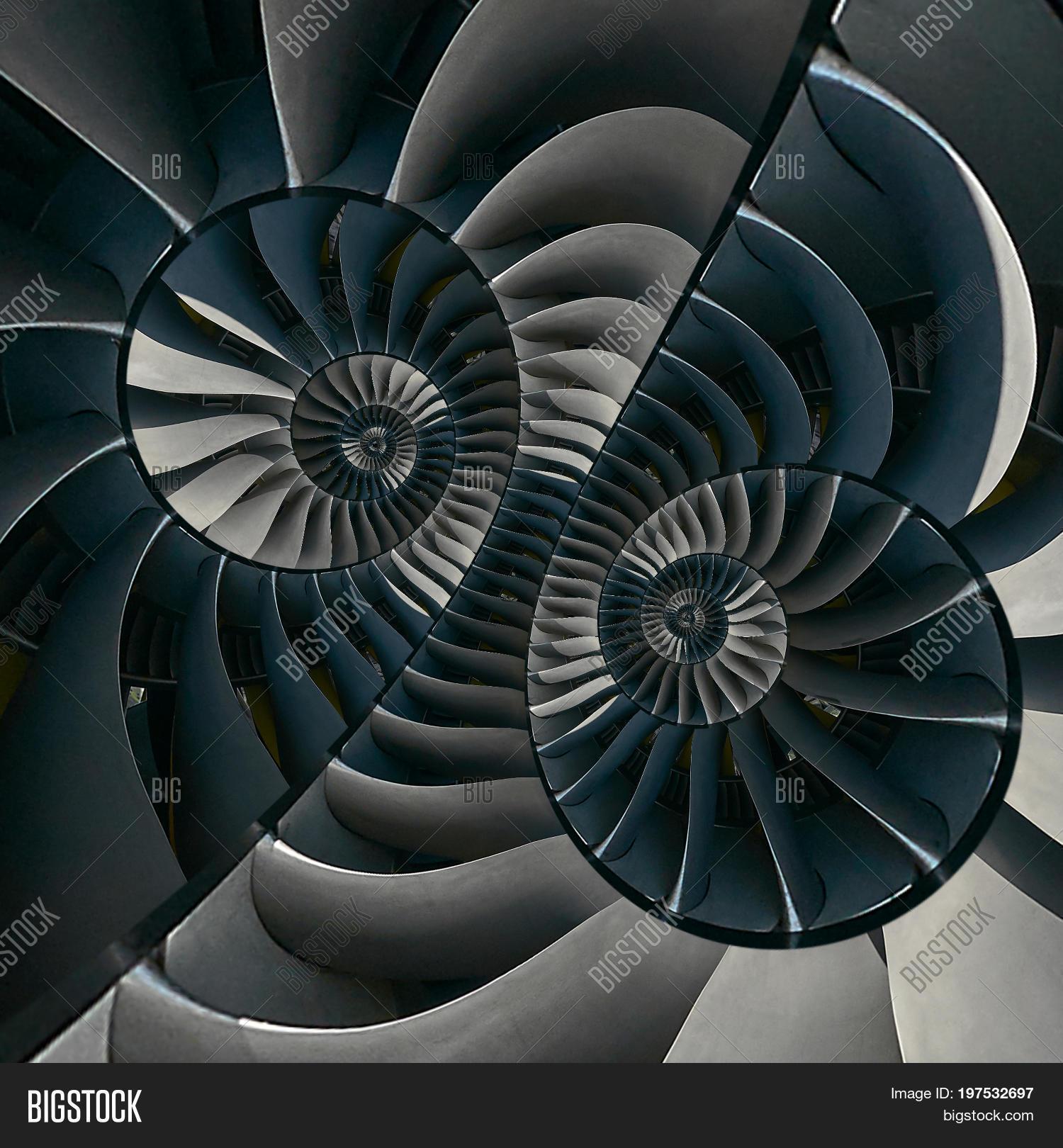 Turbine Blades Wings Surreal Spiral Image & Photo | Bigstock