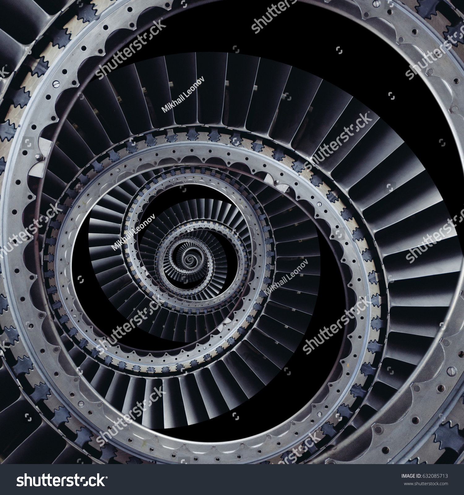 Turbine Blades Wings Spiral Effect Abstract Stock Photo (100% Legal ...