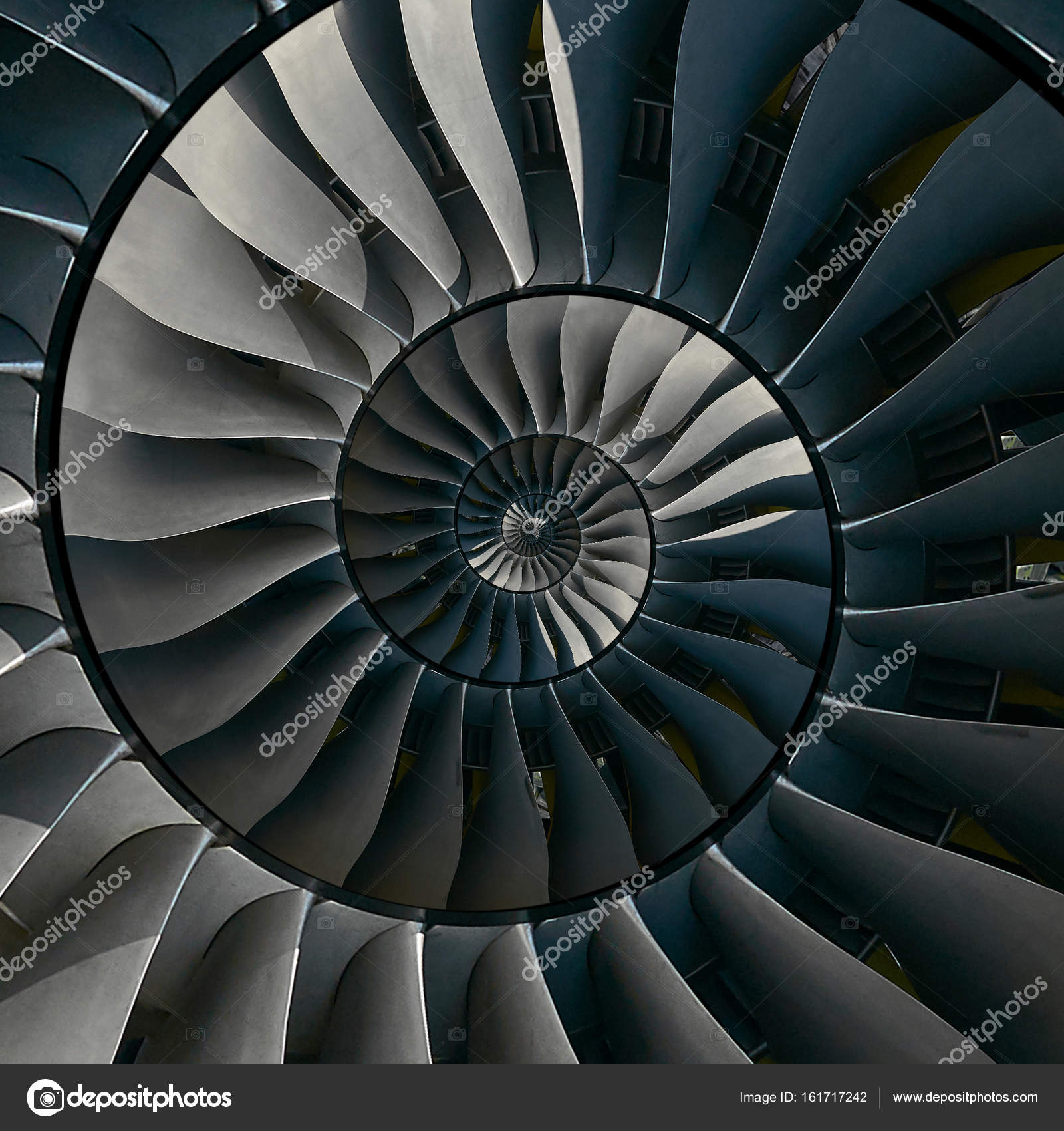Turbine blades wings spiral effect abstract fractal pattern ...
