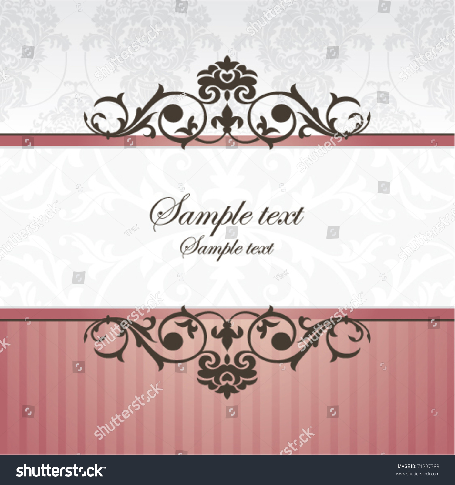 Abstract Vintage Frame Vector Illustration Stock Vector 71297788 ...