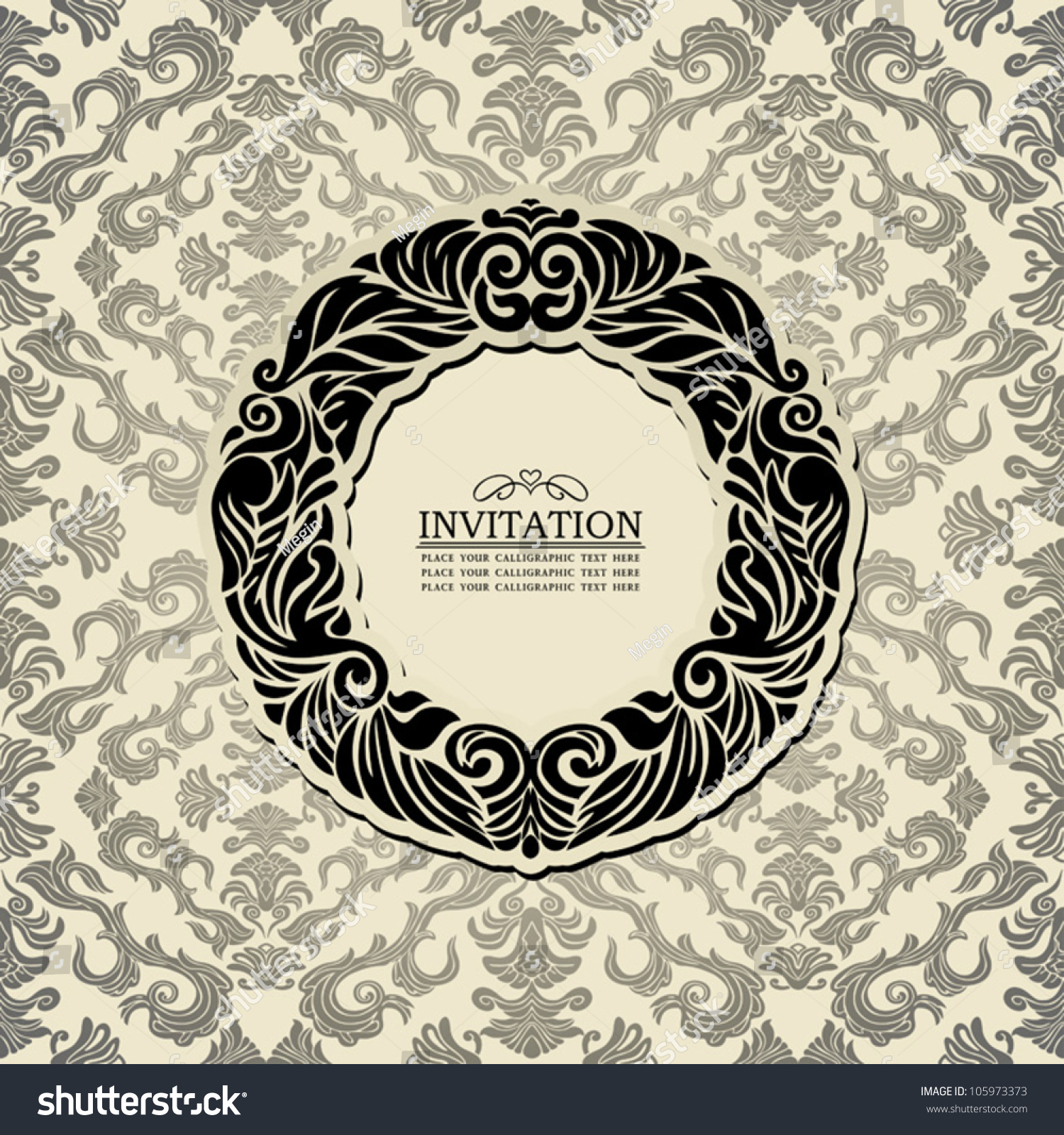 Abstract Background Black Vintage Frame Old Stock Vector HD (Royalty ...